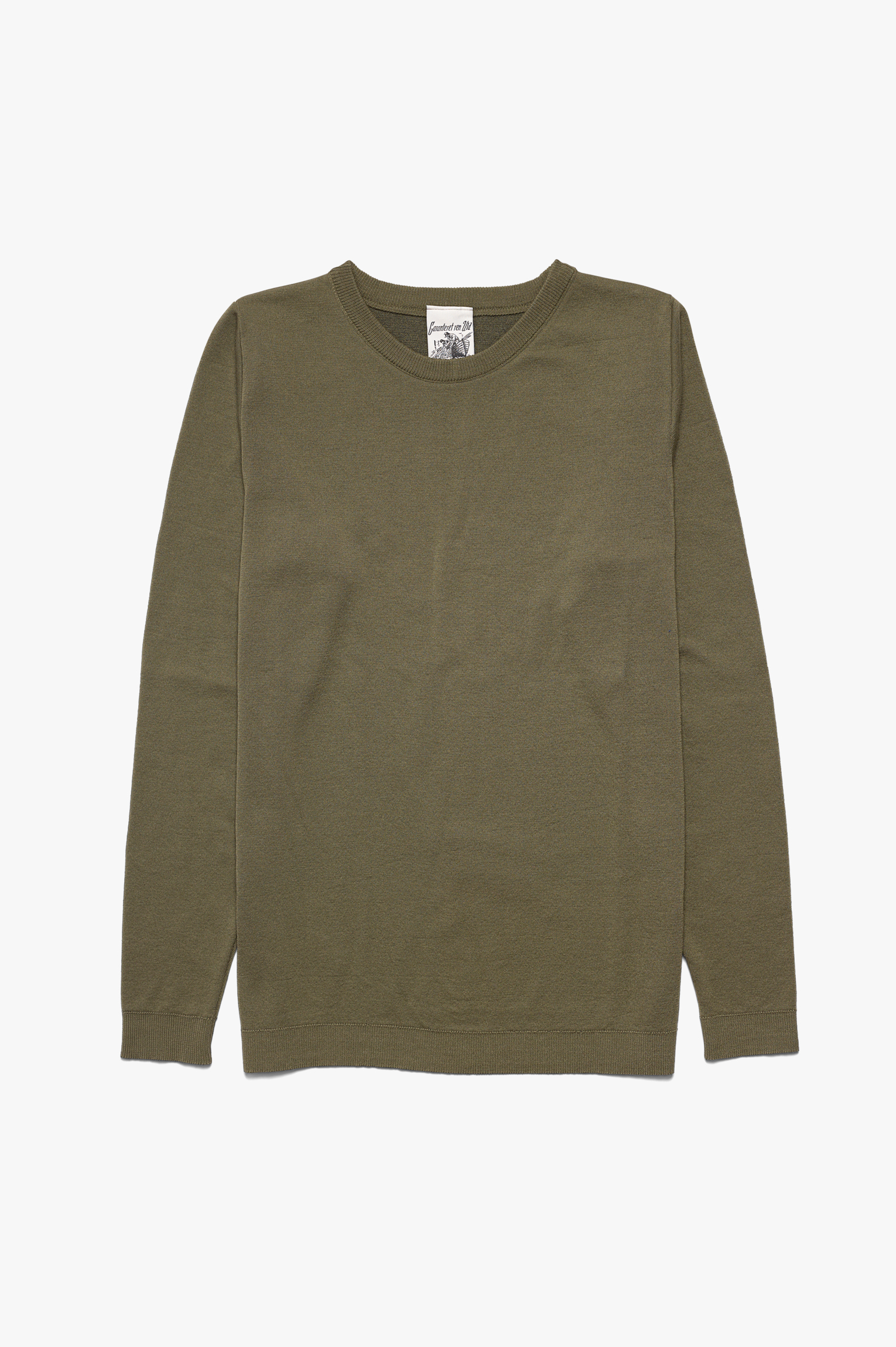 Imitation Crew Neck Green Army