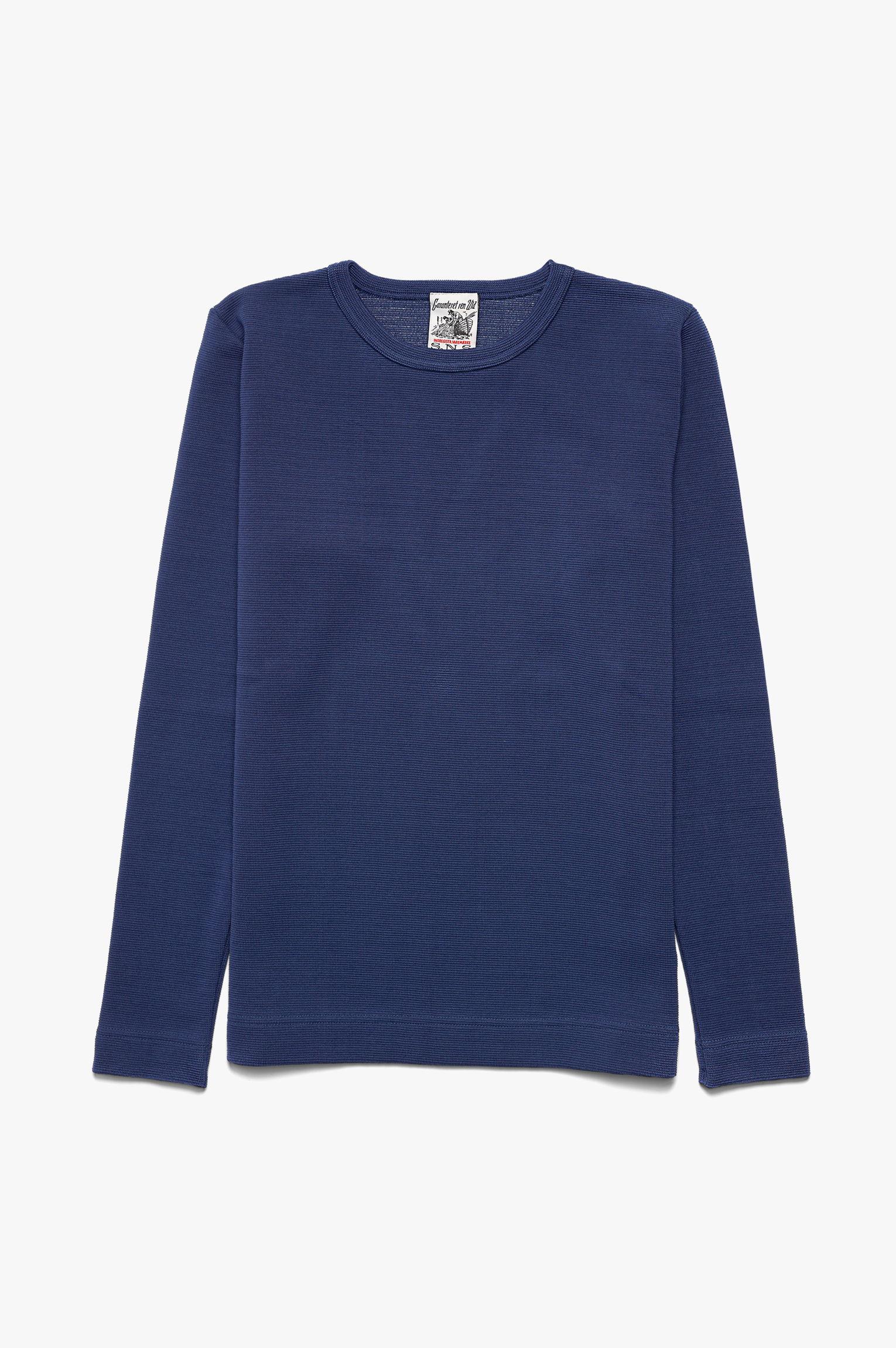 Handle Crew Neck Sweater Blue