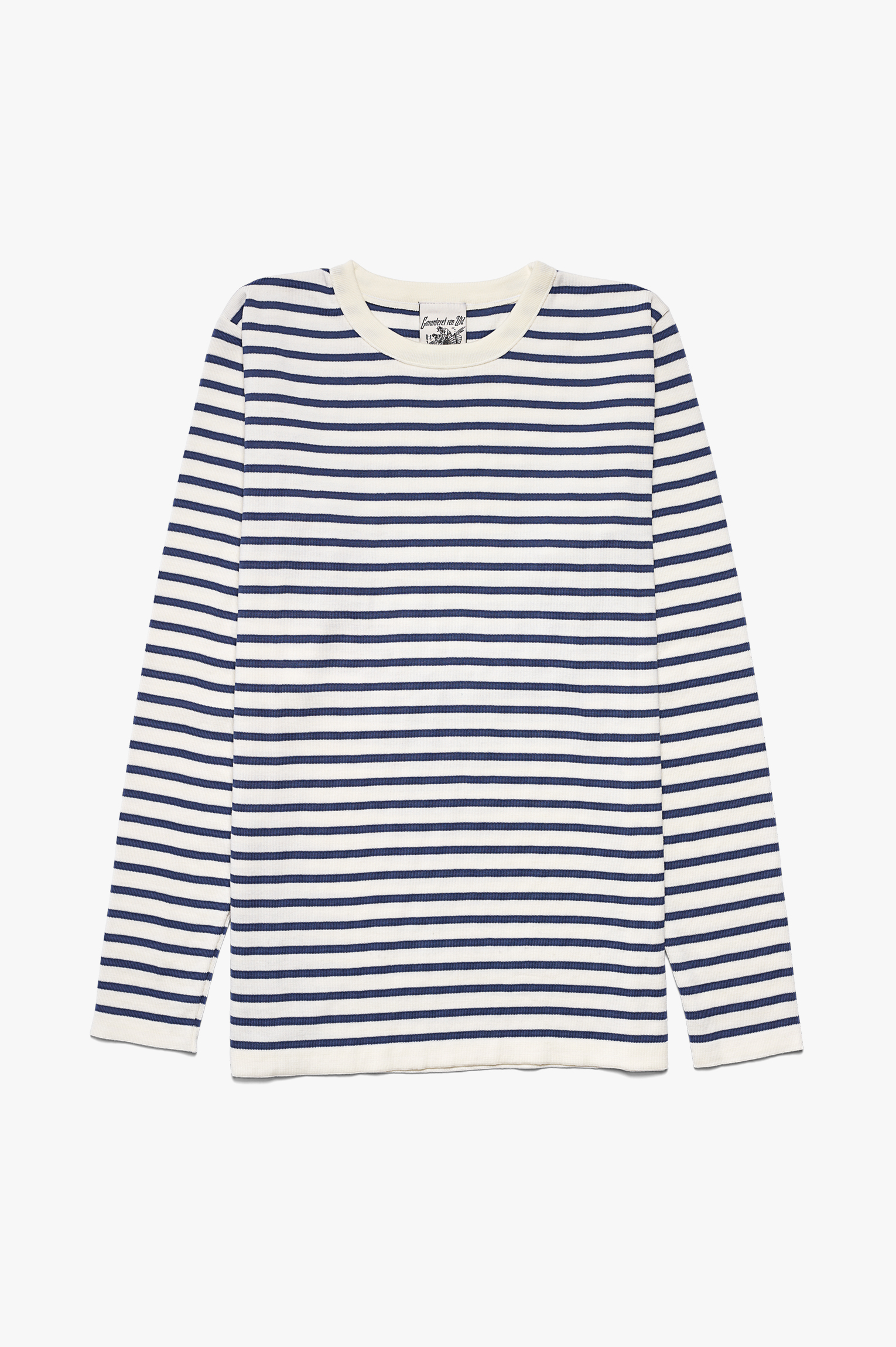 Passage Crew Neck White/Blue Stripes