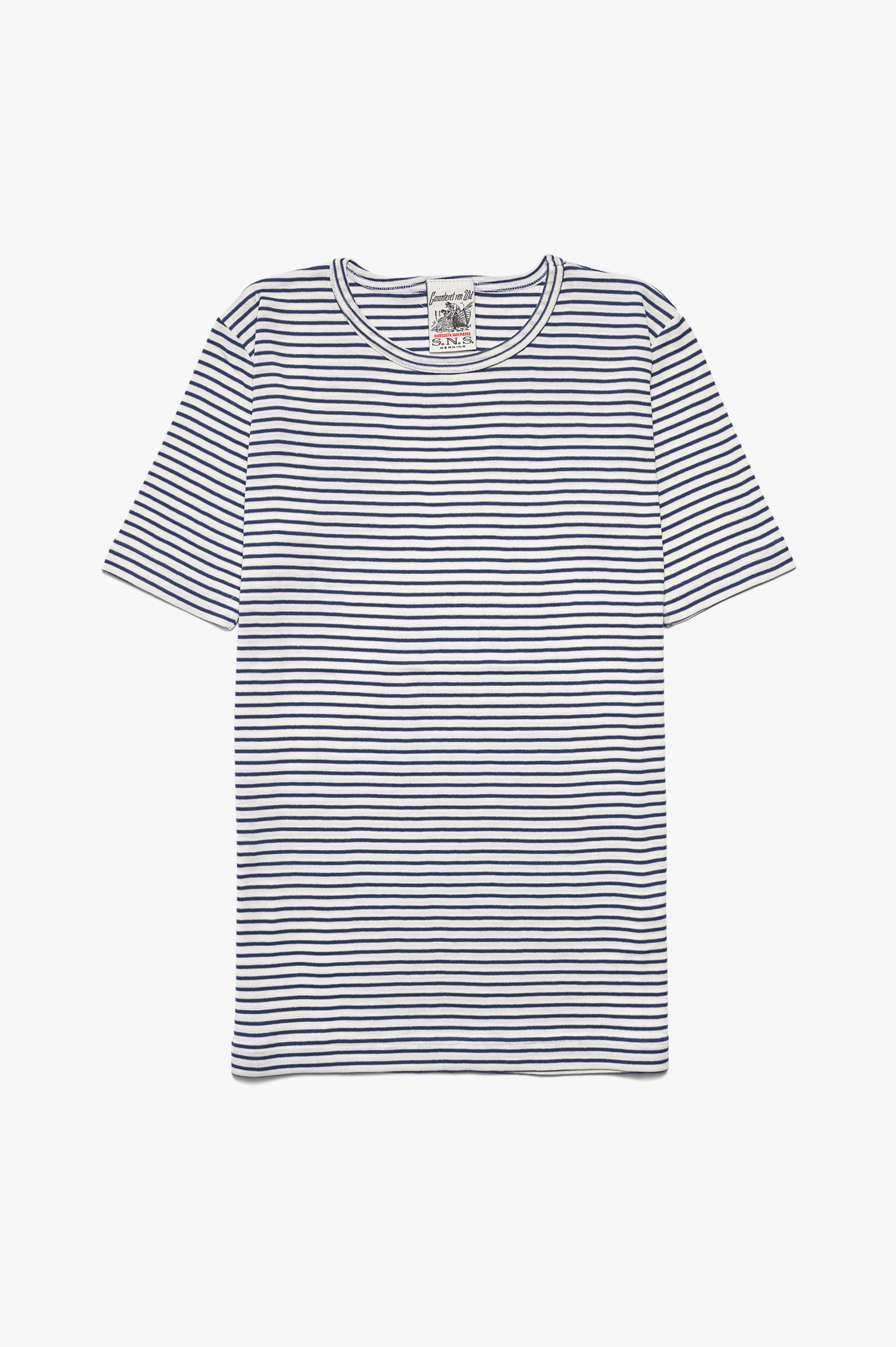 Lemma T-Shirt White/Blue Stripes