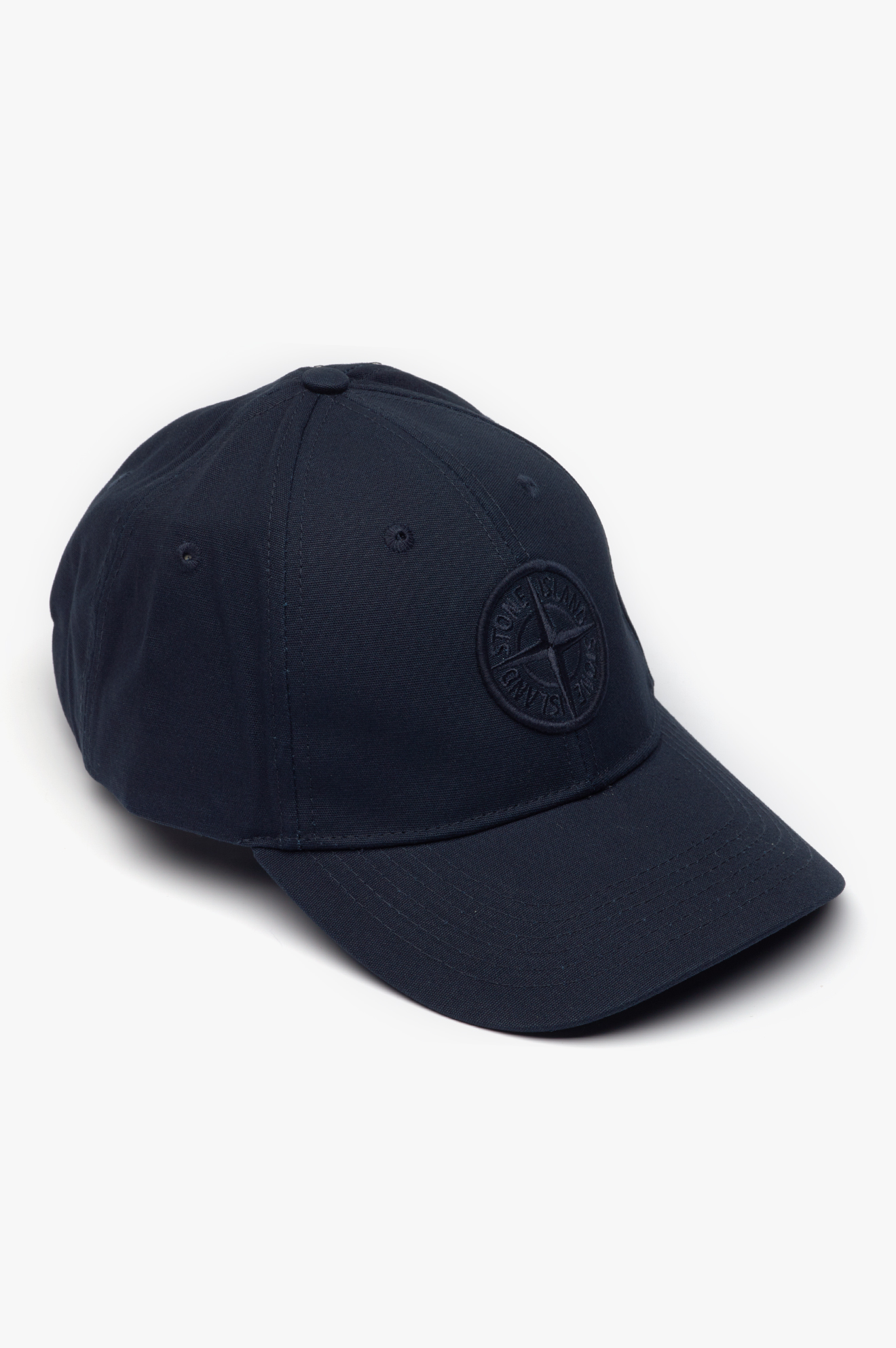 Baseball Cap Embossed Logo Navy