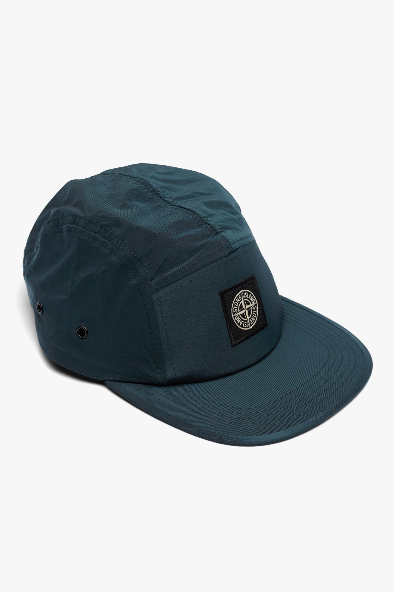 5 Pannel Nylon Metal Cap Sea Green
