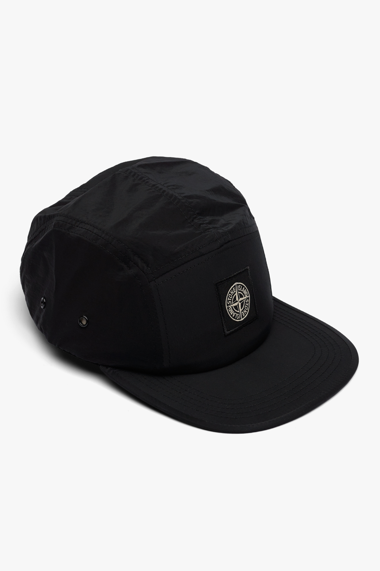 5 Pannel Nylon Metal Cap Black