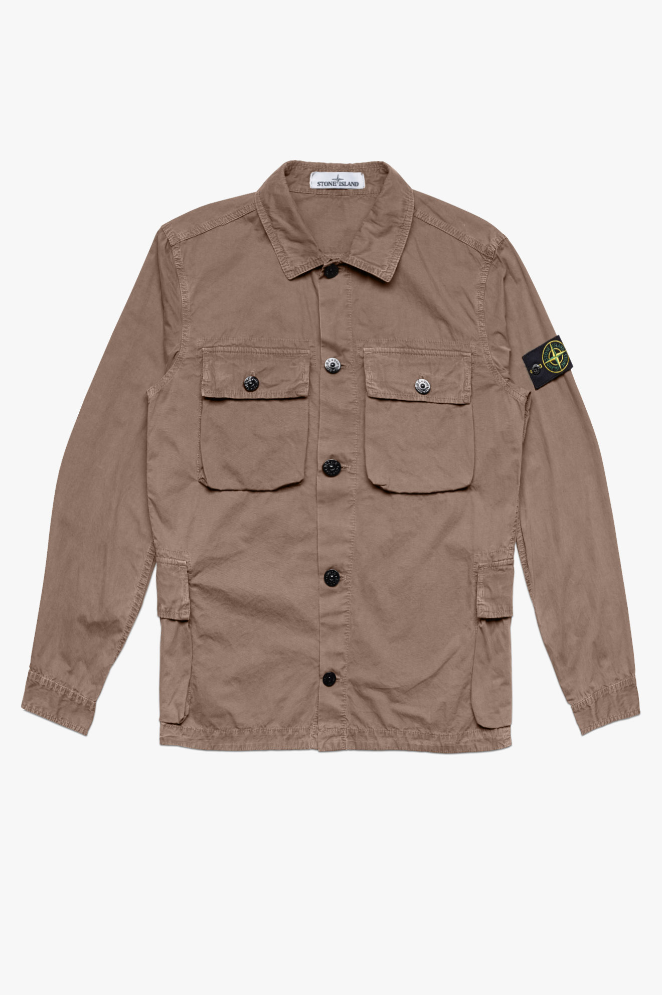 Tela GD Pocket Overshirt Brown