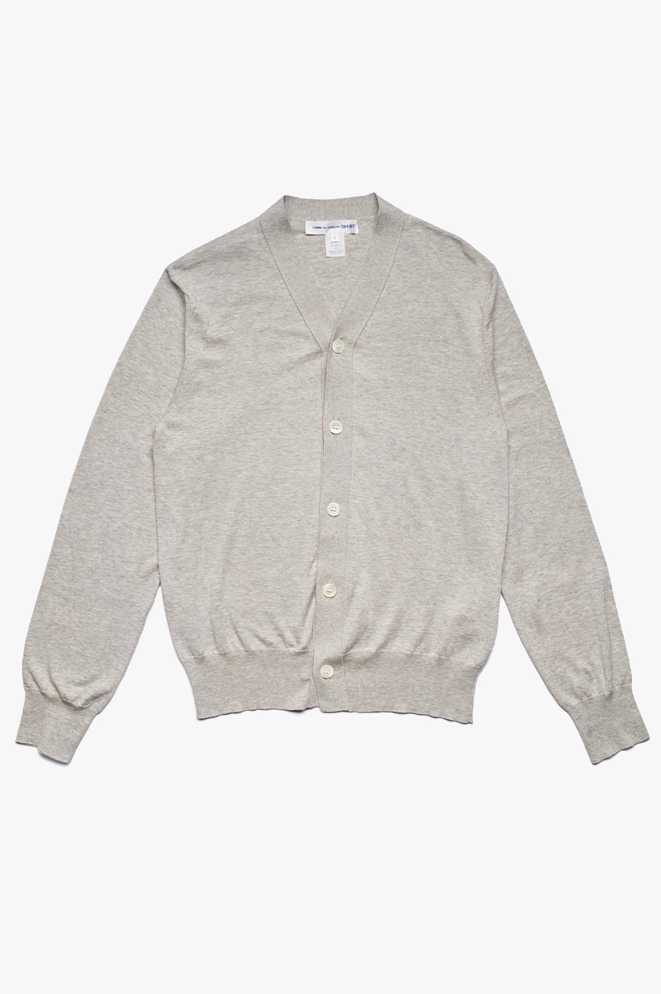 V-Neck Cardigan Grey