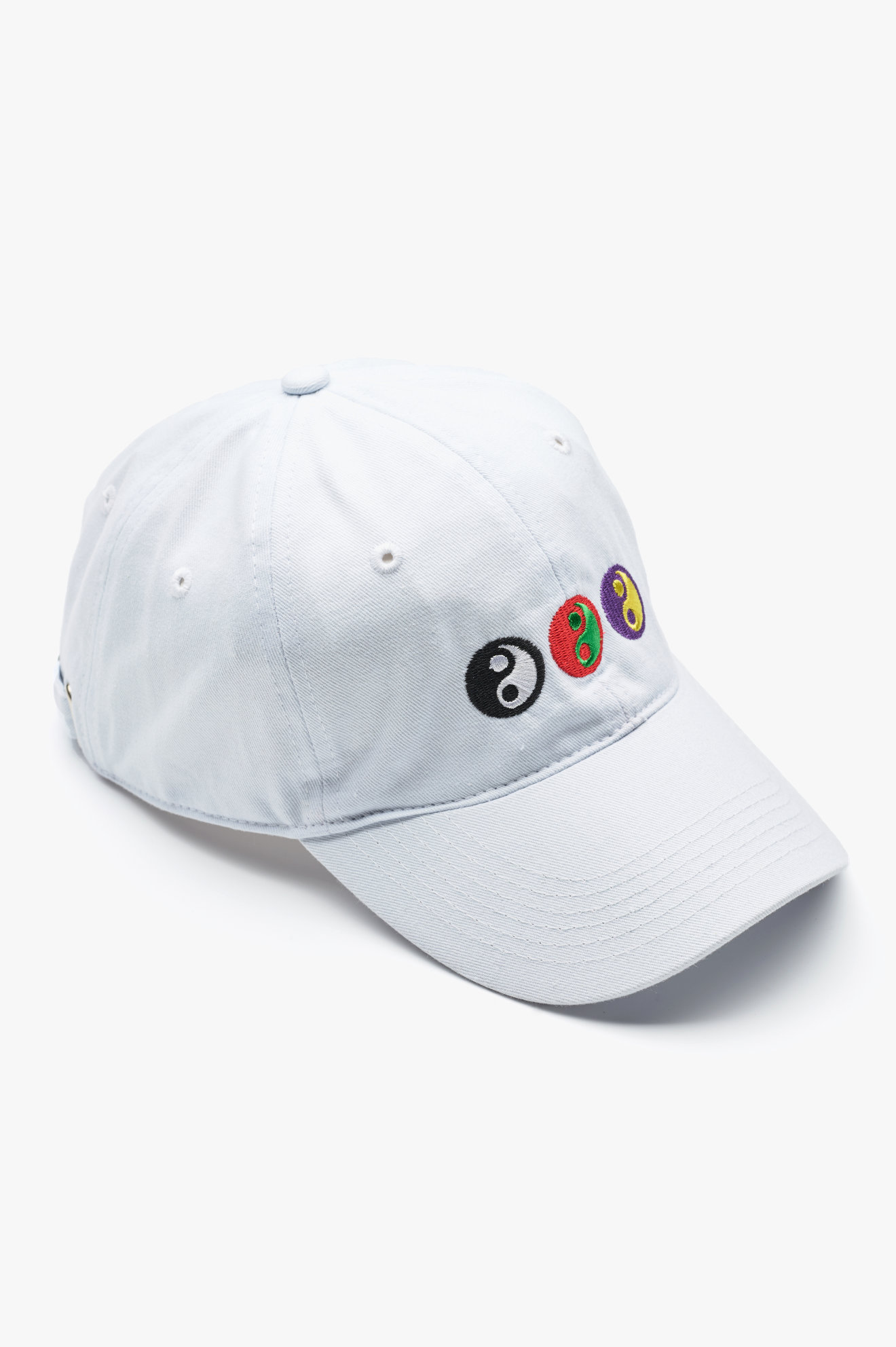 Yin Yang Baseball Cap White