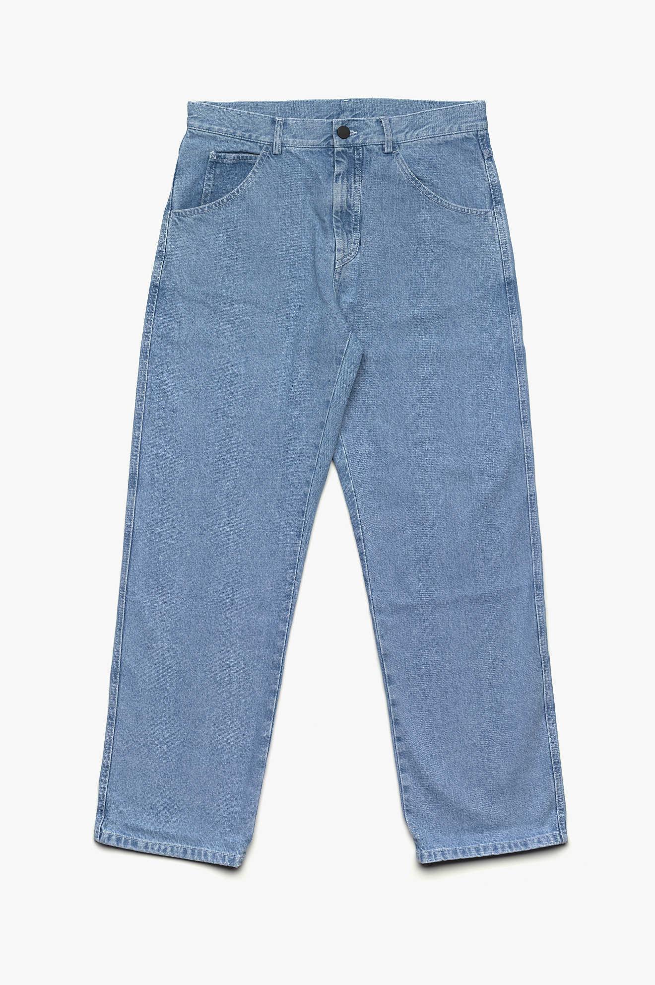 Yin Yang Denim Trousers Light Blue