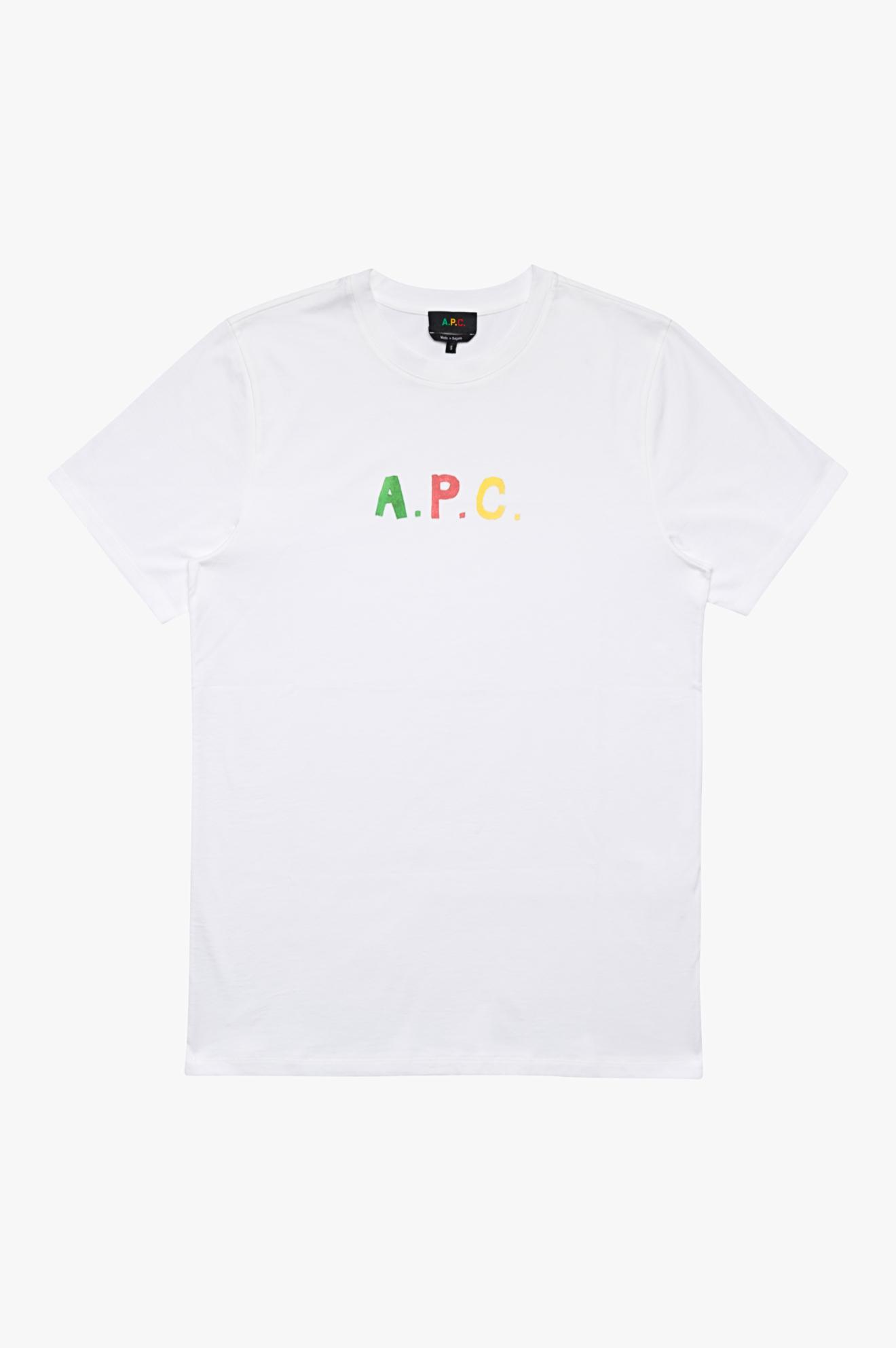 Coloured 'A.P.C.' T-Shirt White