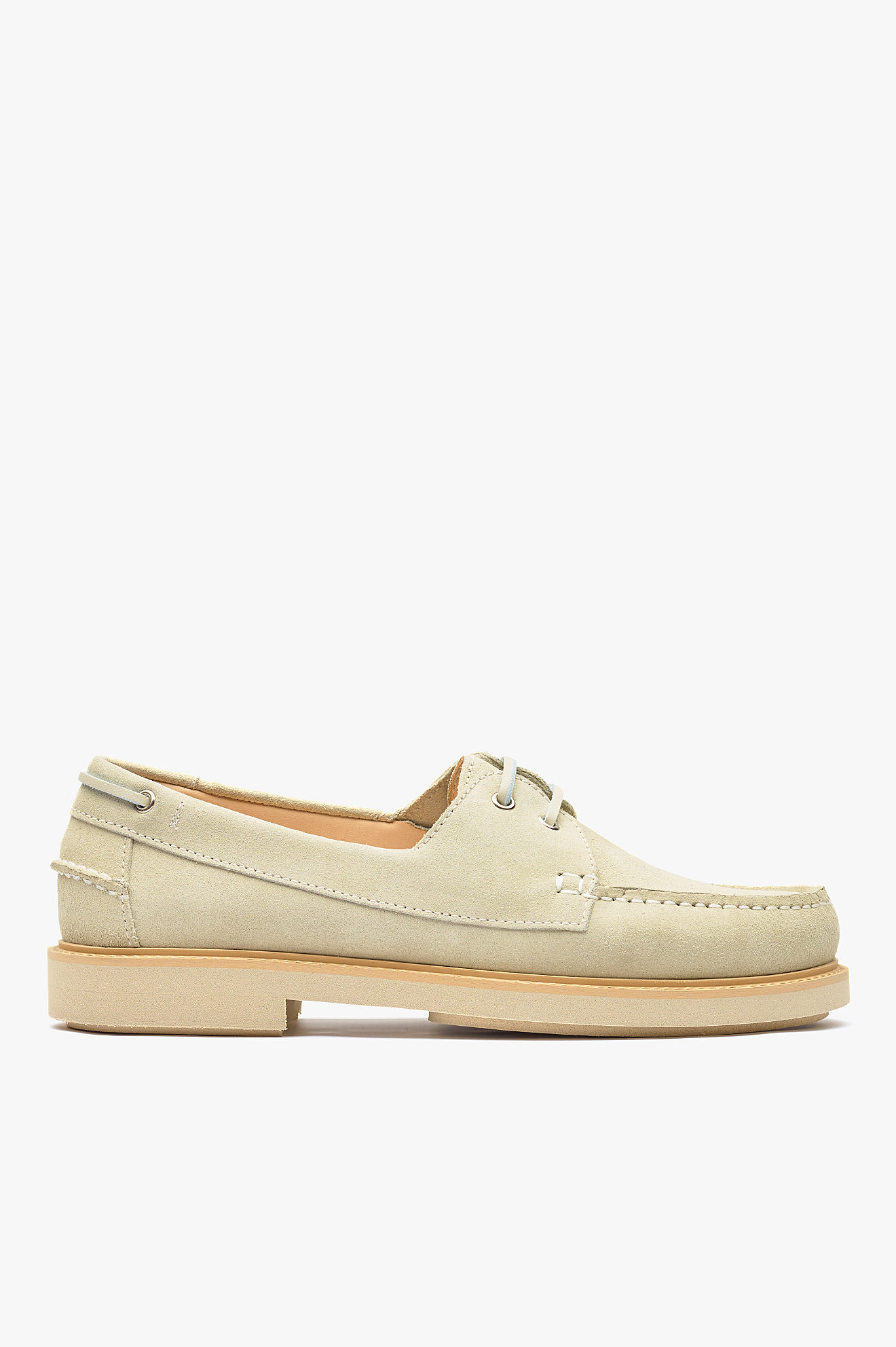 Basile Boat Shoes Beige