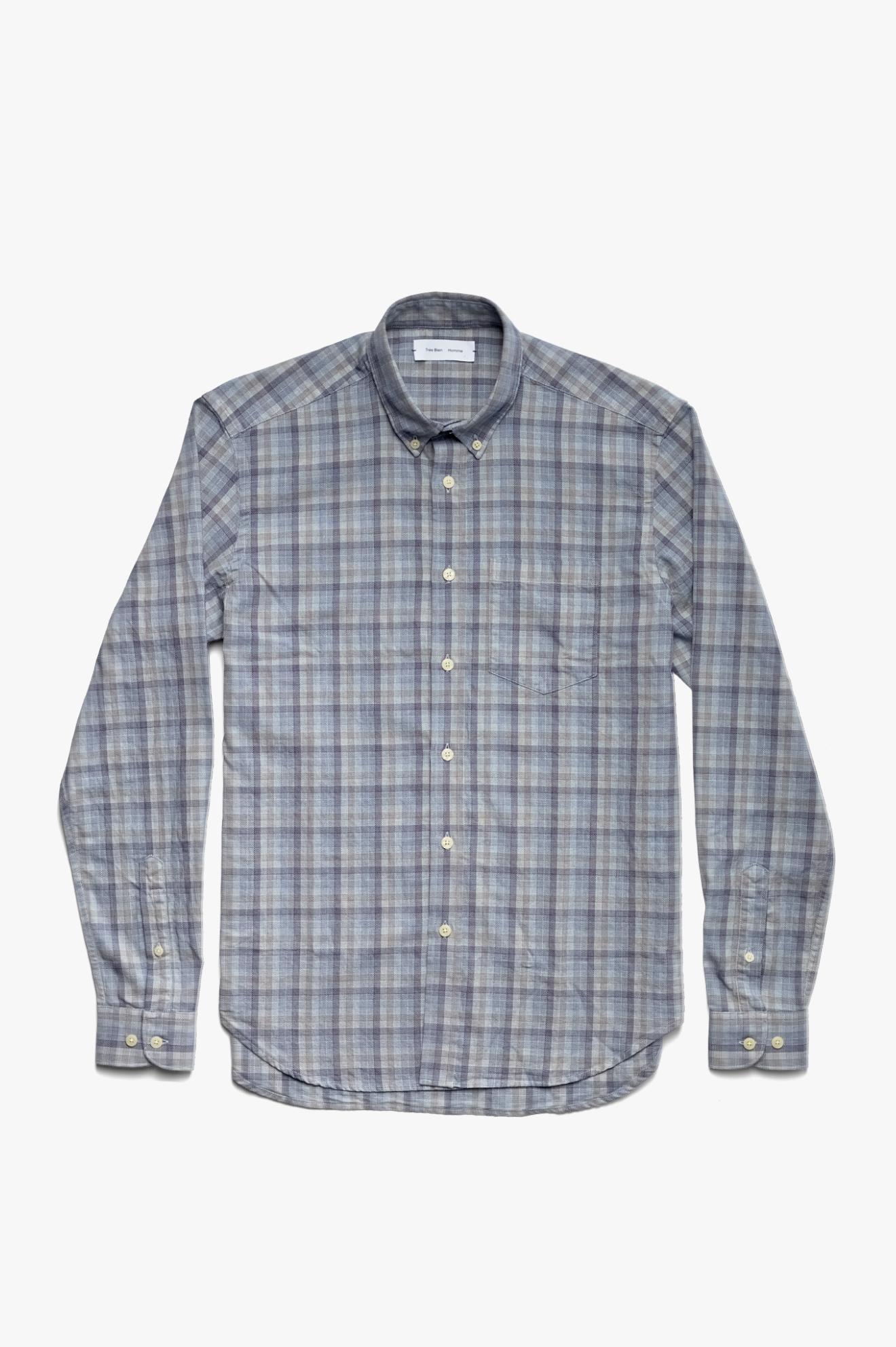 Button Down Shirt Indigo Check