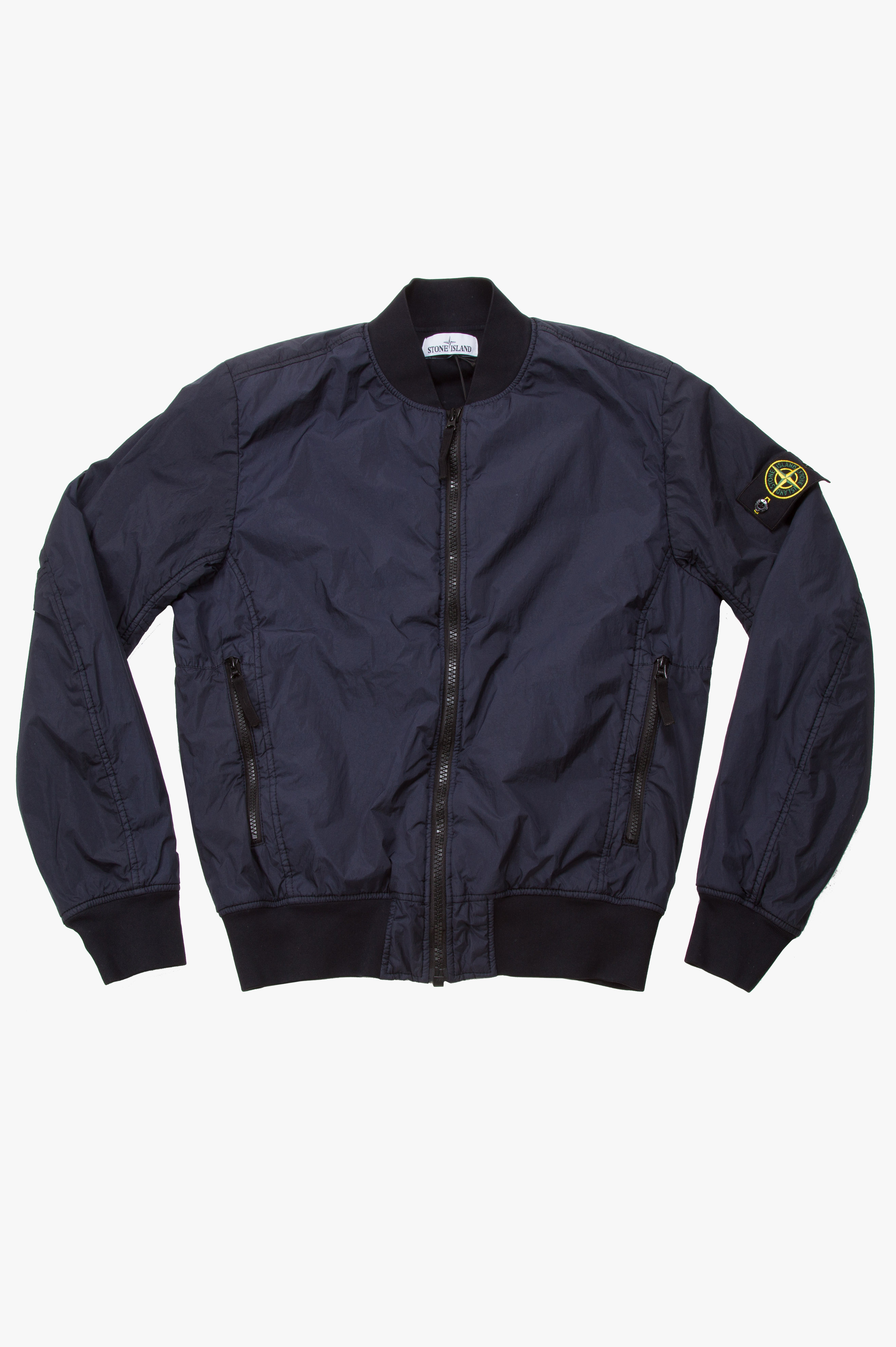 Bomber Garment Dyed Crinkle Reps NY Navy