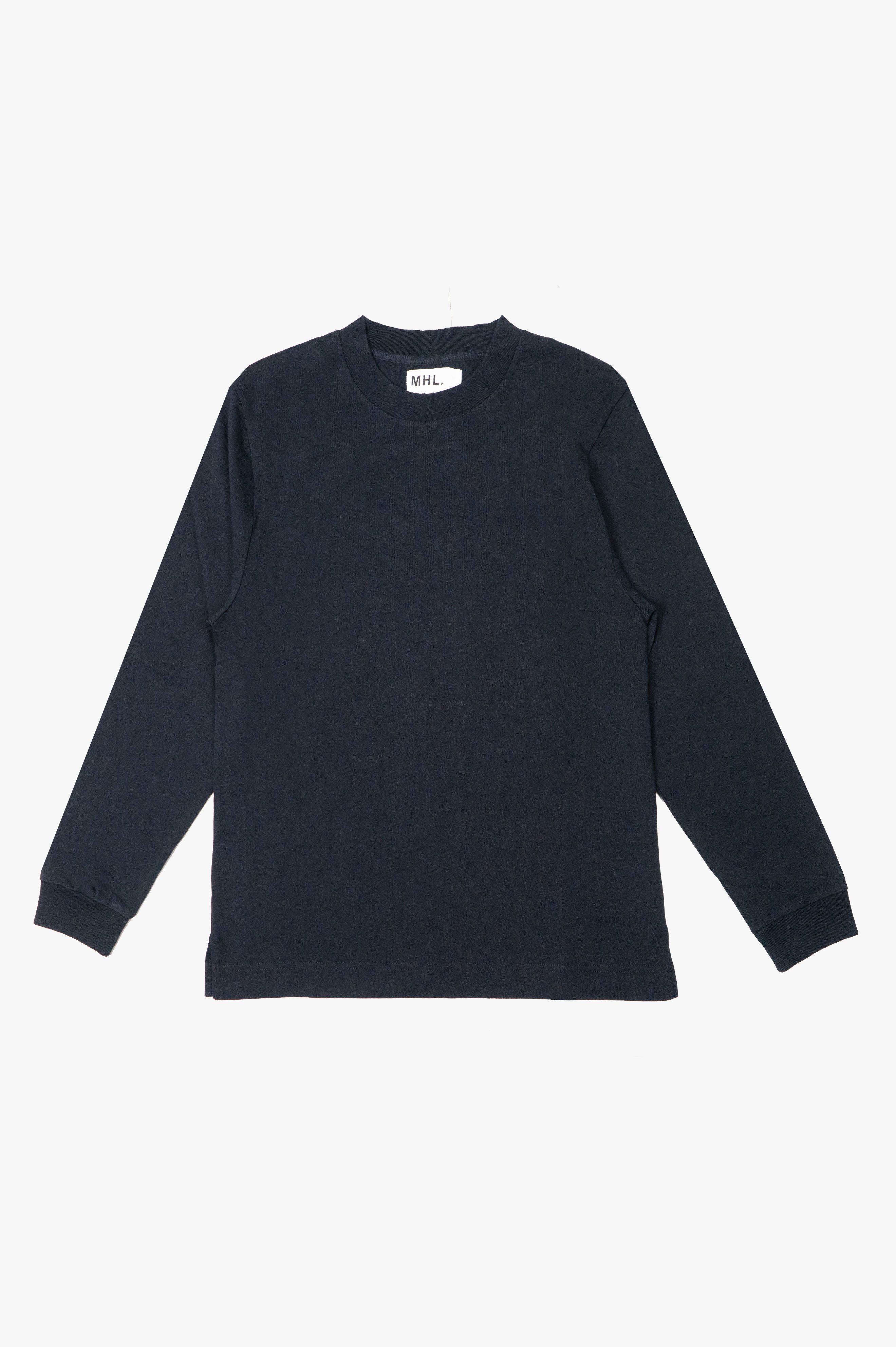Wide Crew Neck Matt Cotton Jersey Midnight