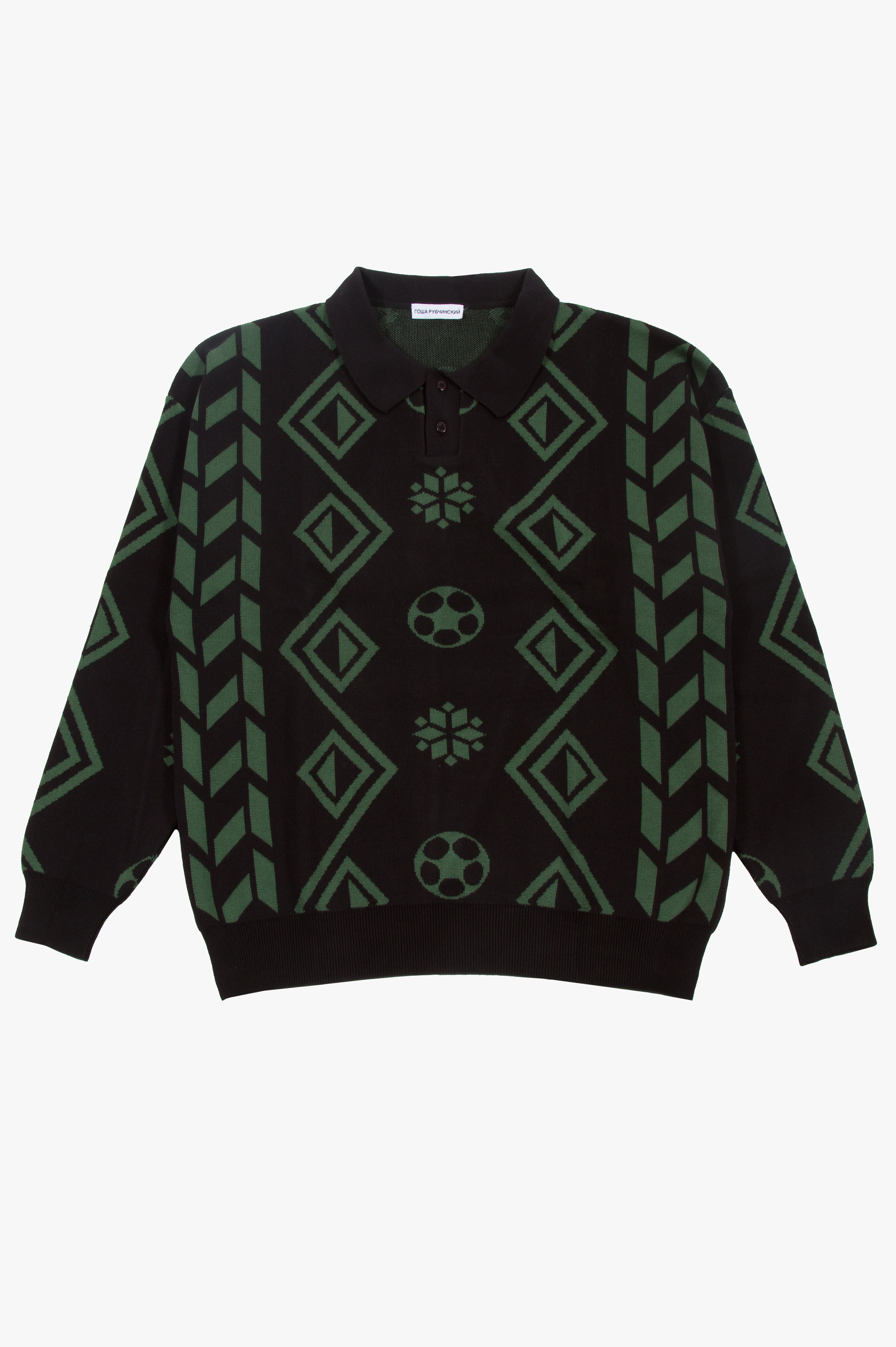 Geometry Knit Sweater Black/Green