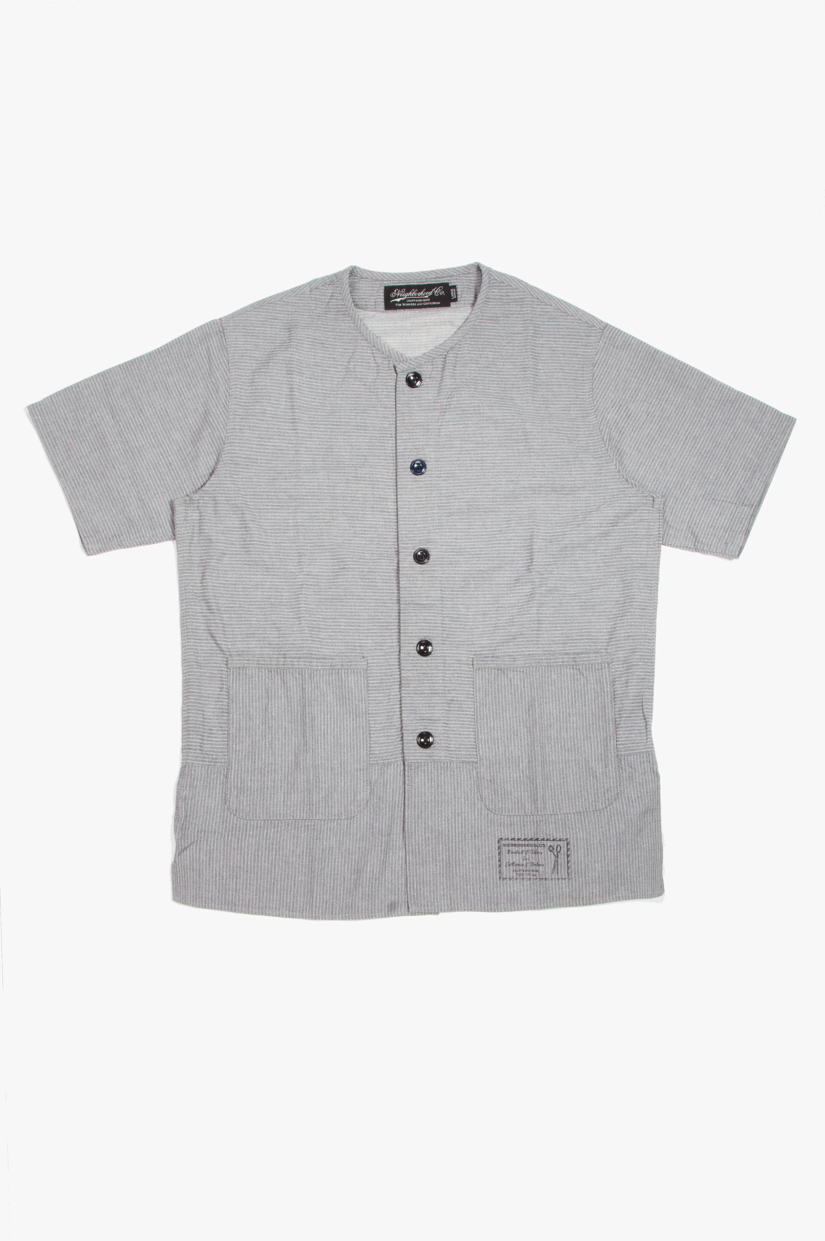 Dobby SS Shirt Grey