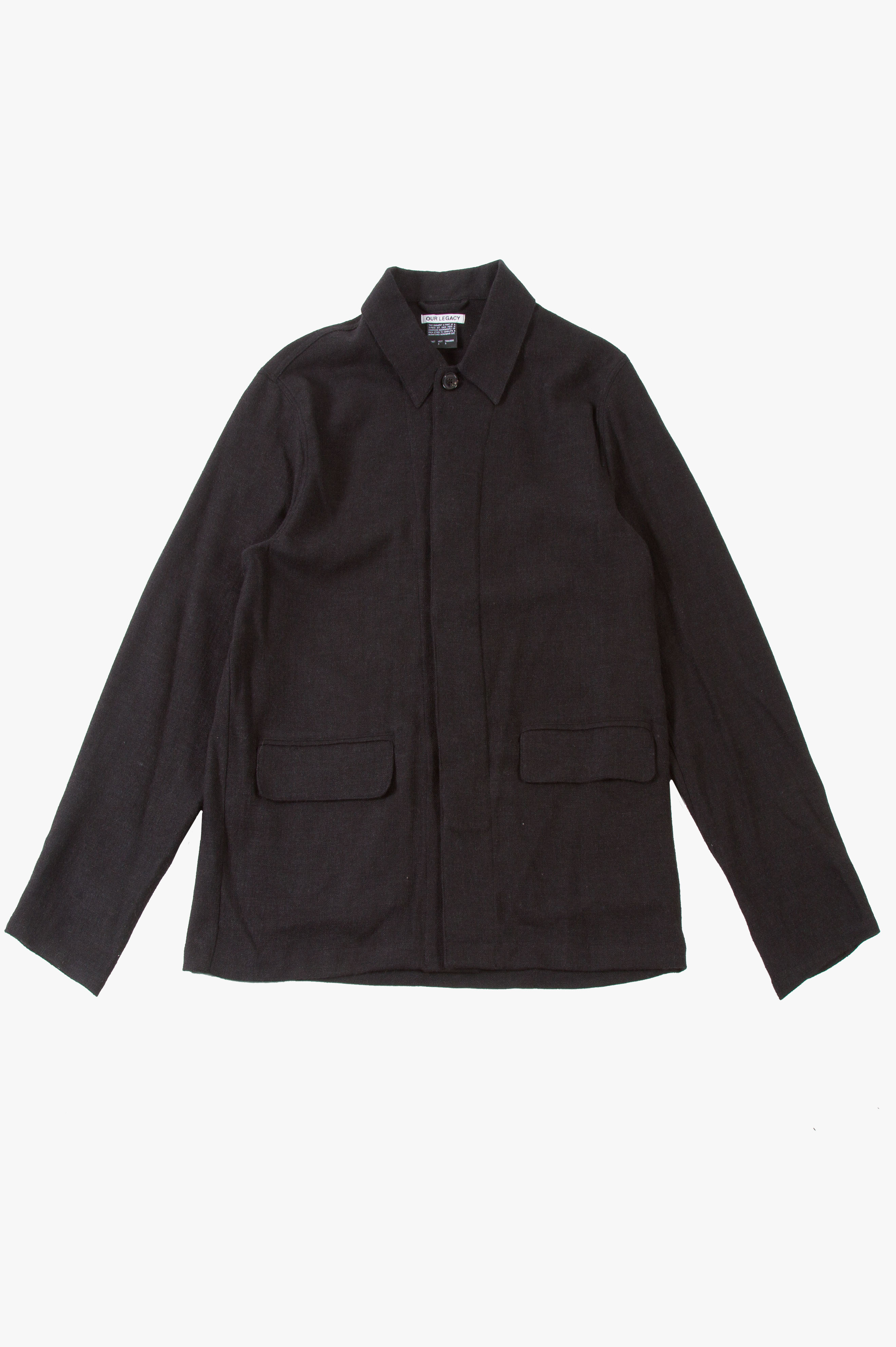 Archive Suit Jacket Linen Wool Black