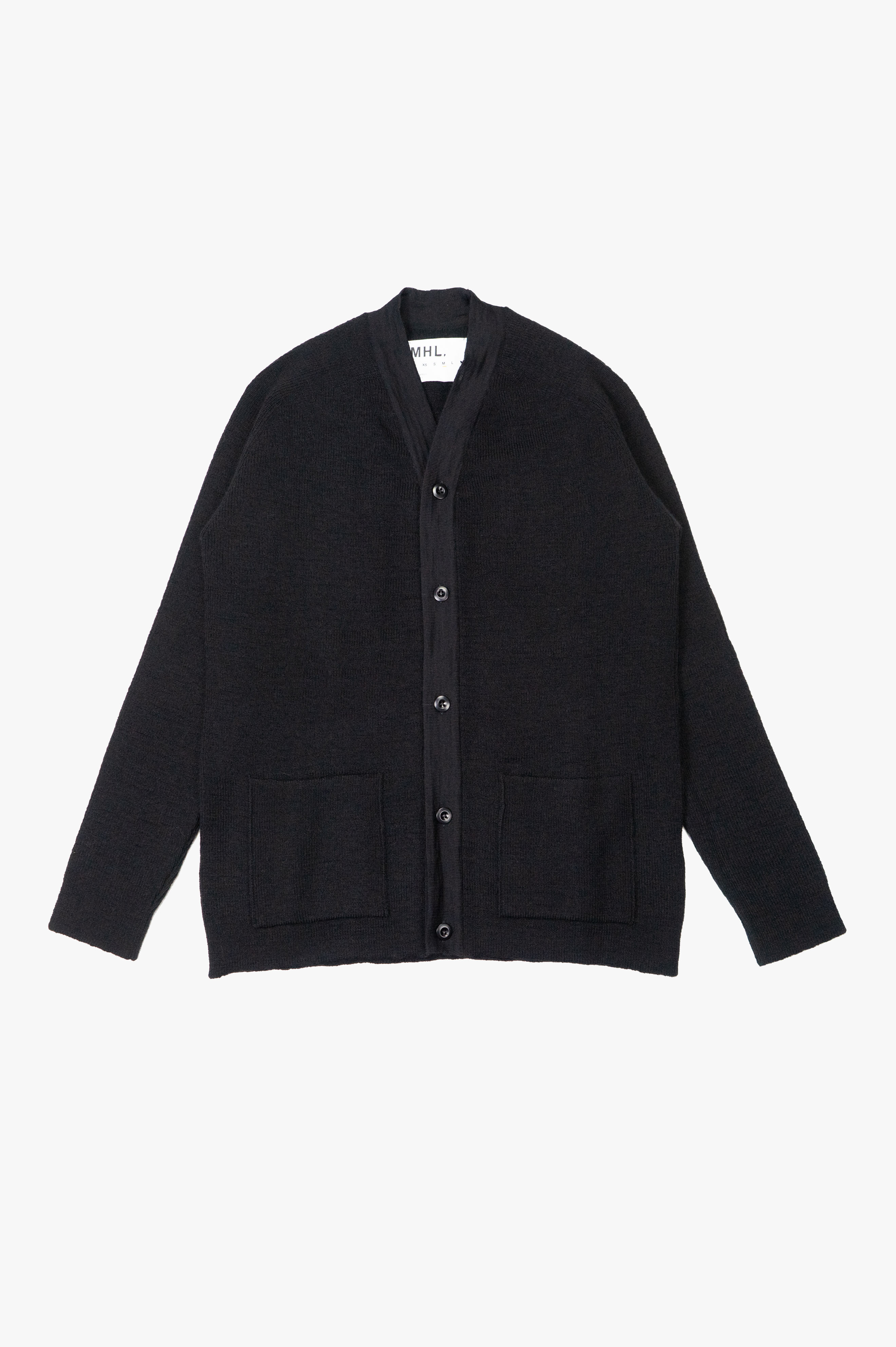 Pocket Cardigan Utility Wool Black