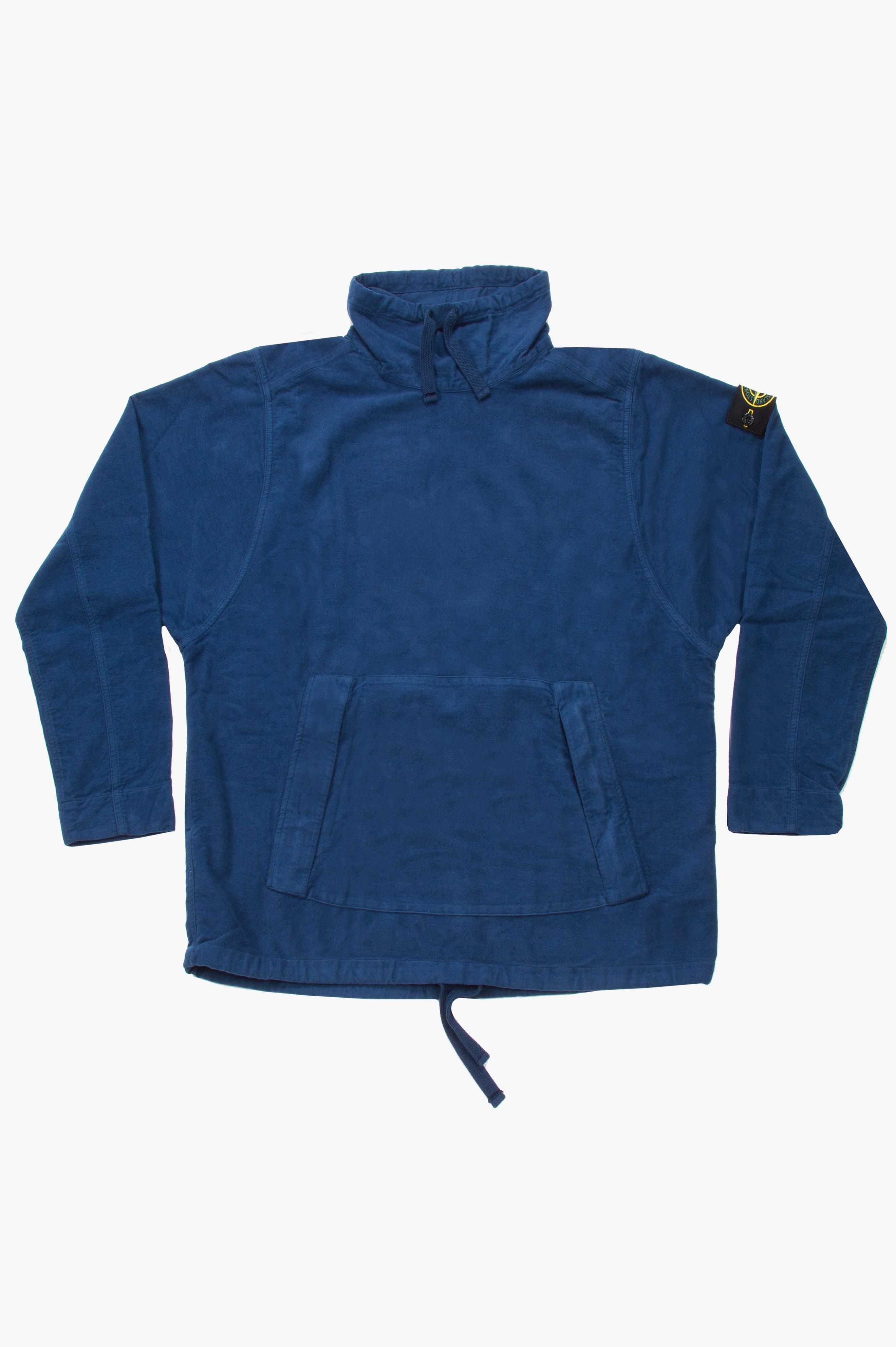 Pull Over Moleskin Shirt Blue