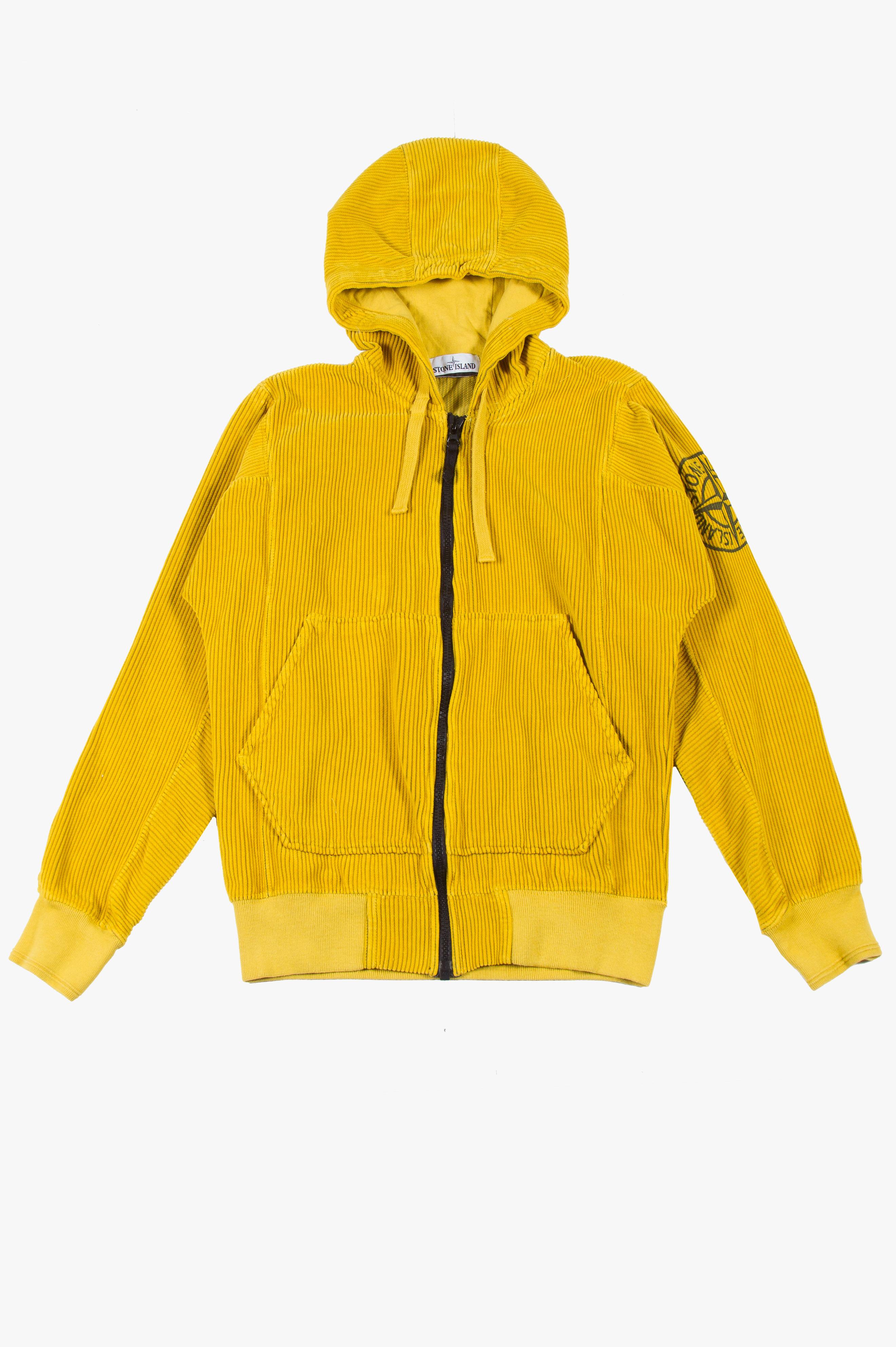 Zip Corduroy Sweatshirt Mustard