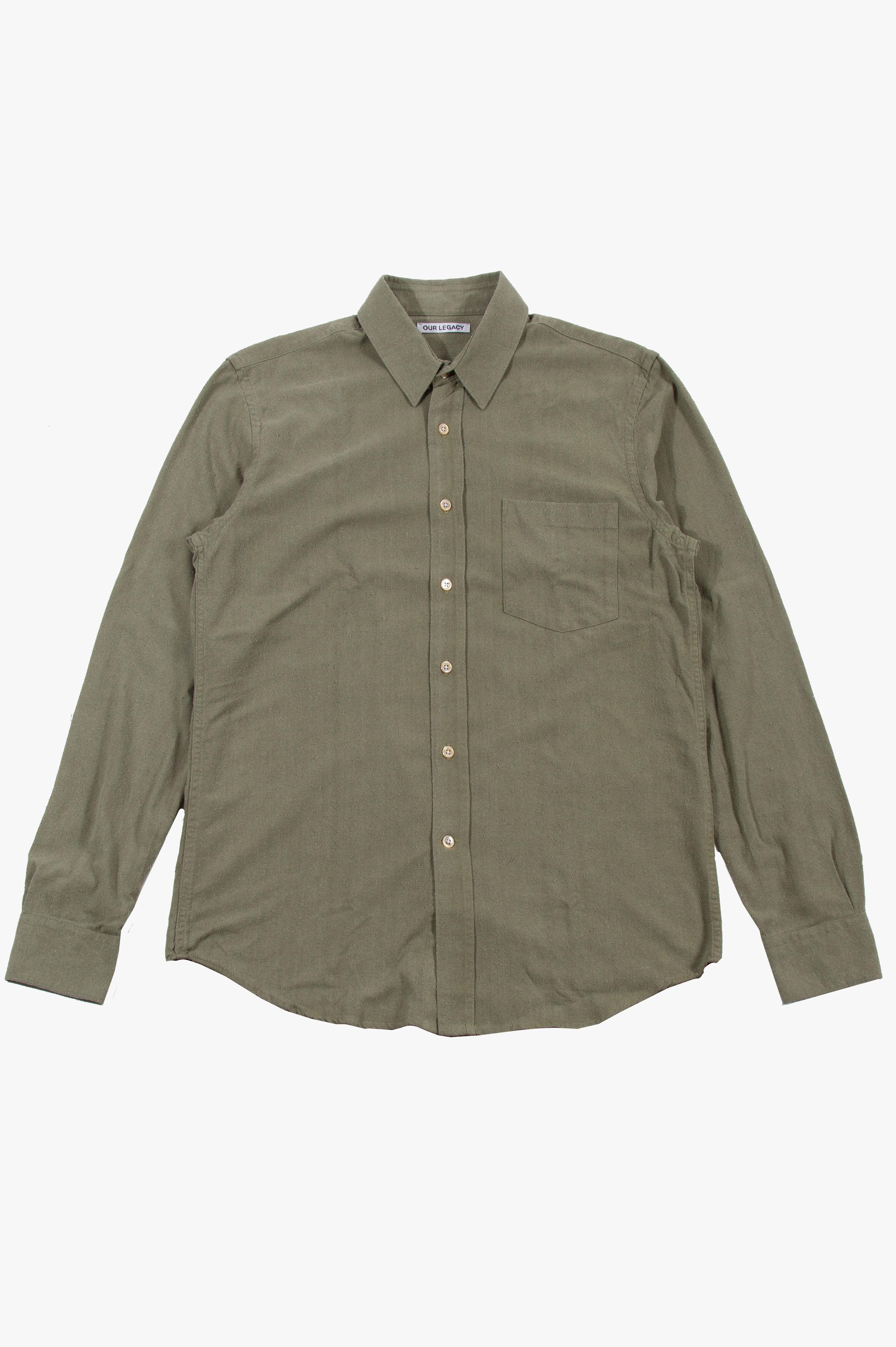 Classic Shirt Light Olive Silk