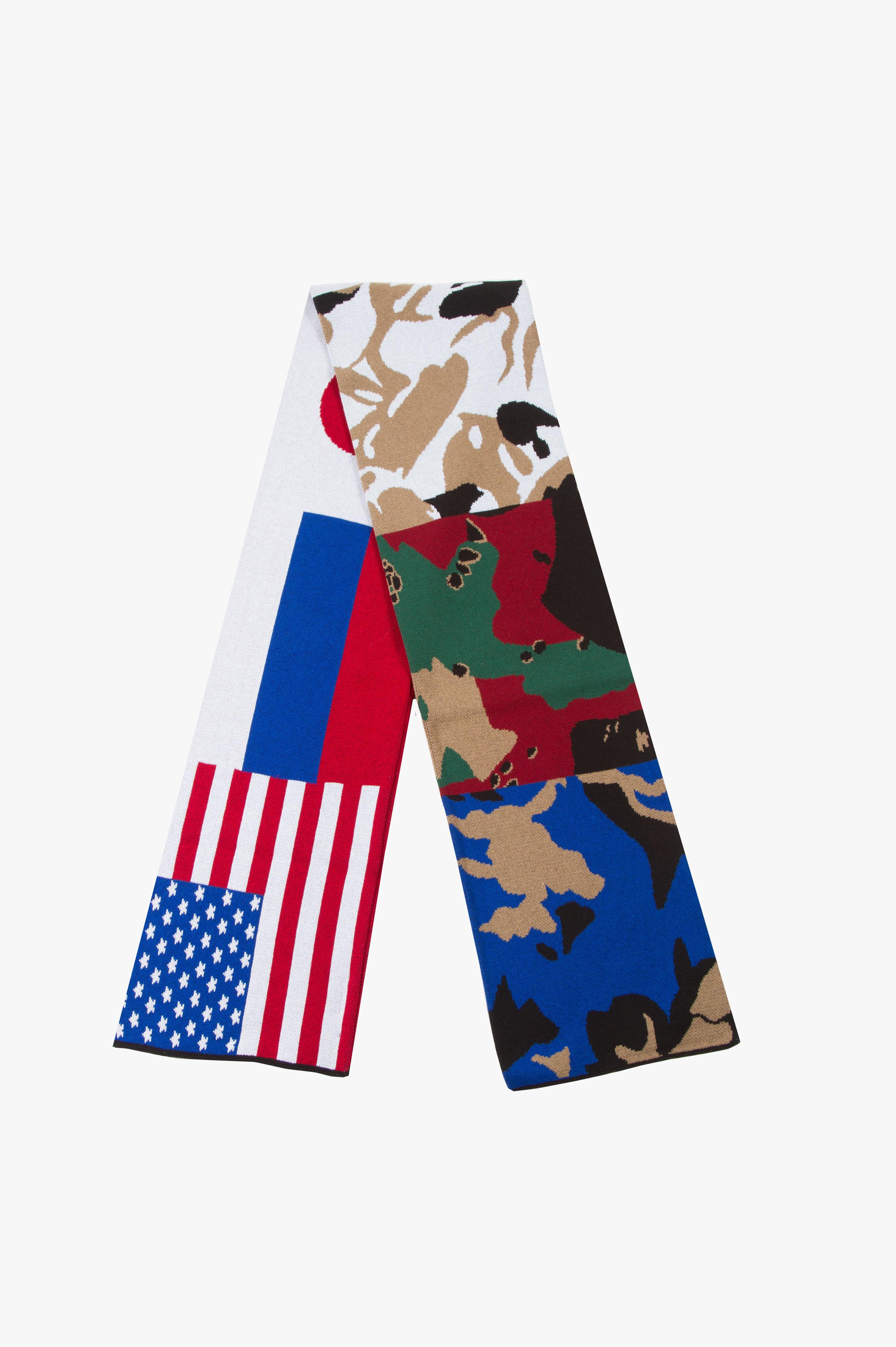 Camo Flag Scarf Multicolor