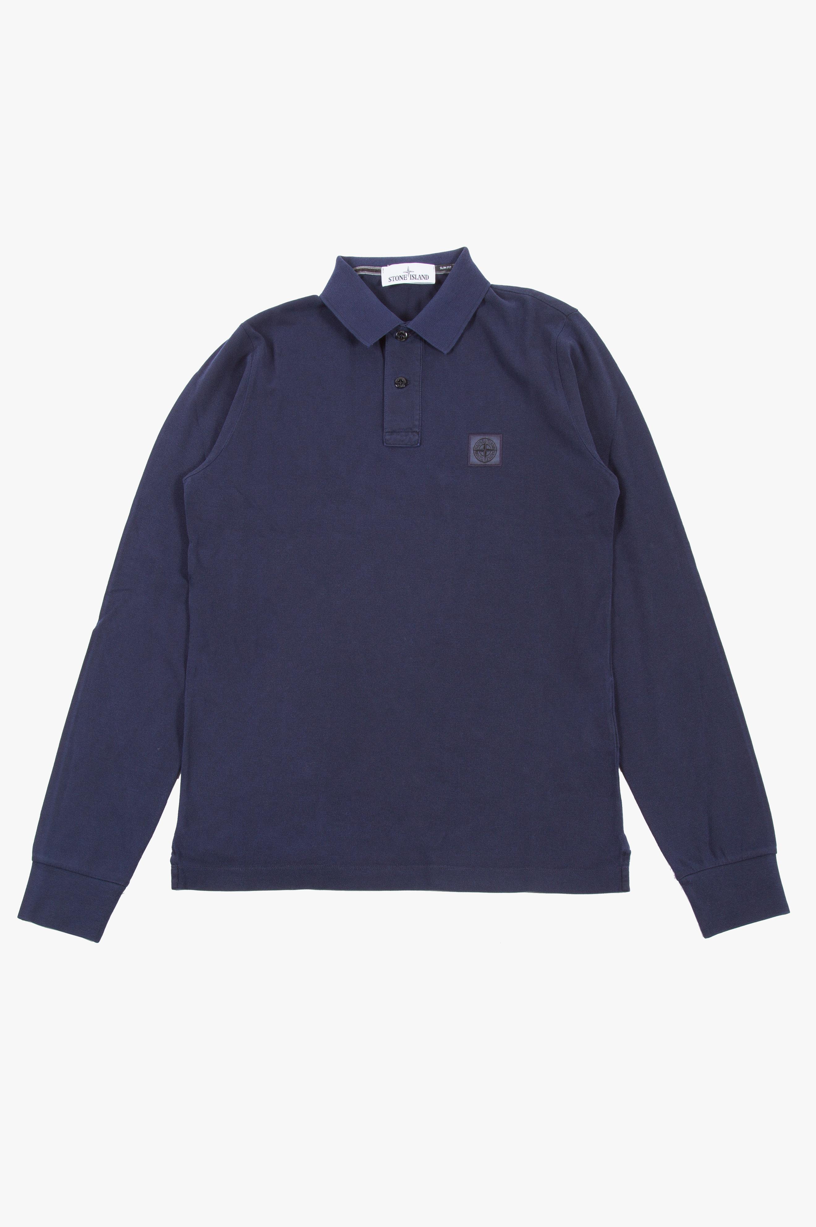 Piqué Long Sleeve Polo Petrol Blue