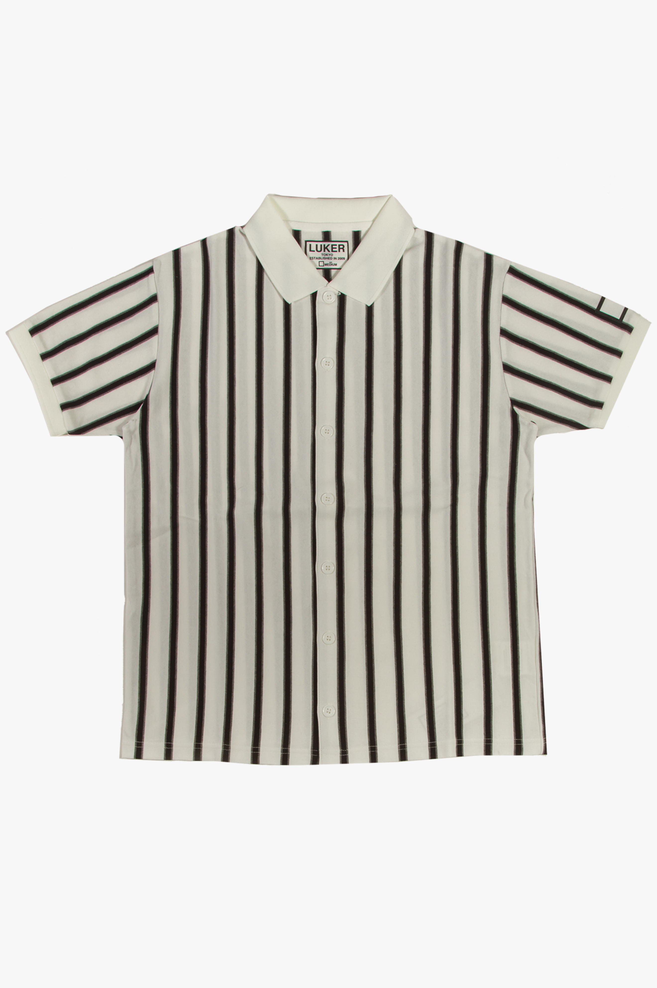 Polo Striped Shirt White/Black