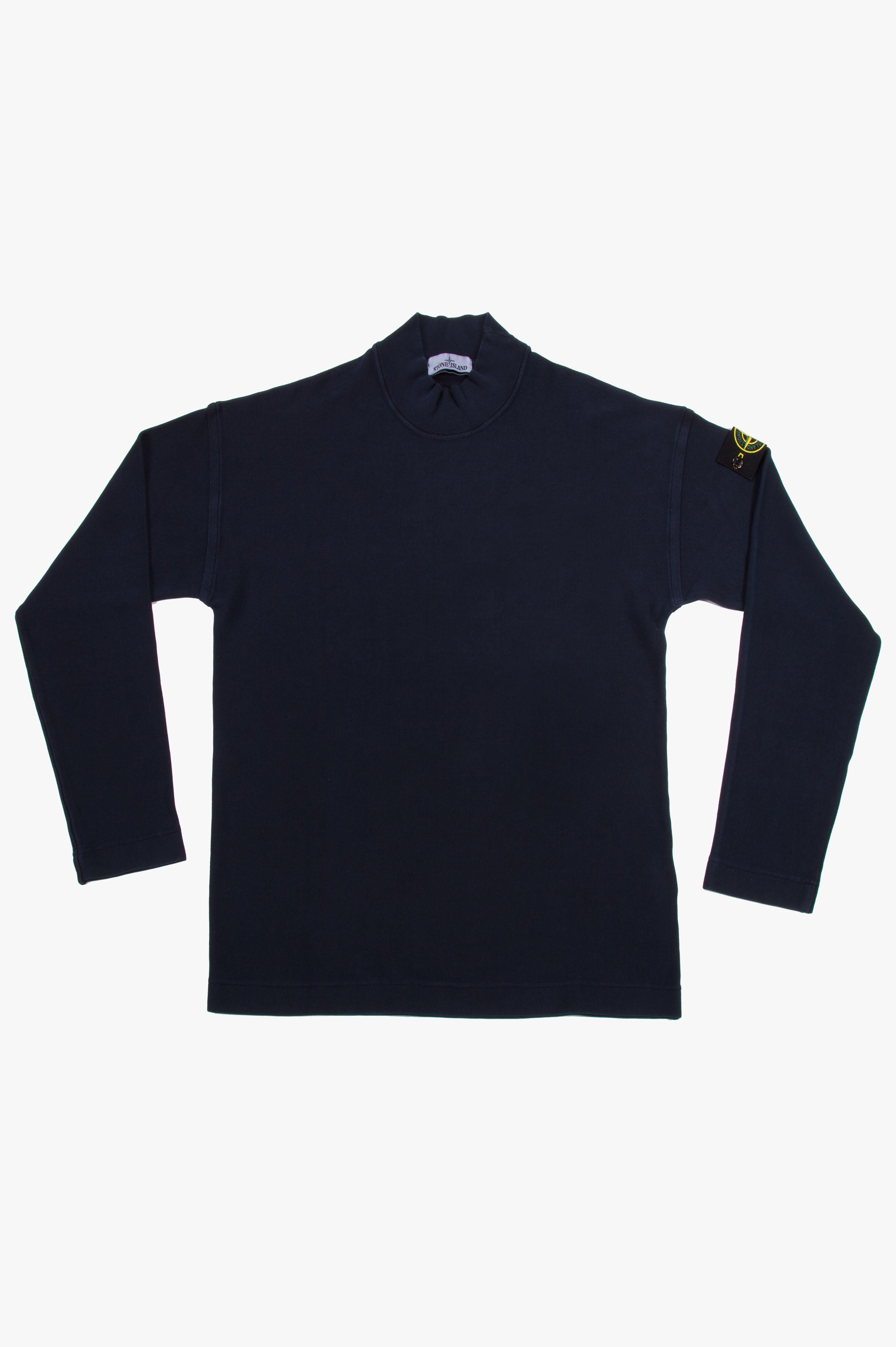 Mock neck Sweatshirt Avio Blue