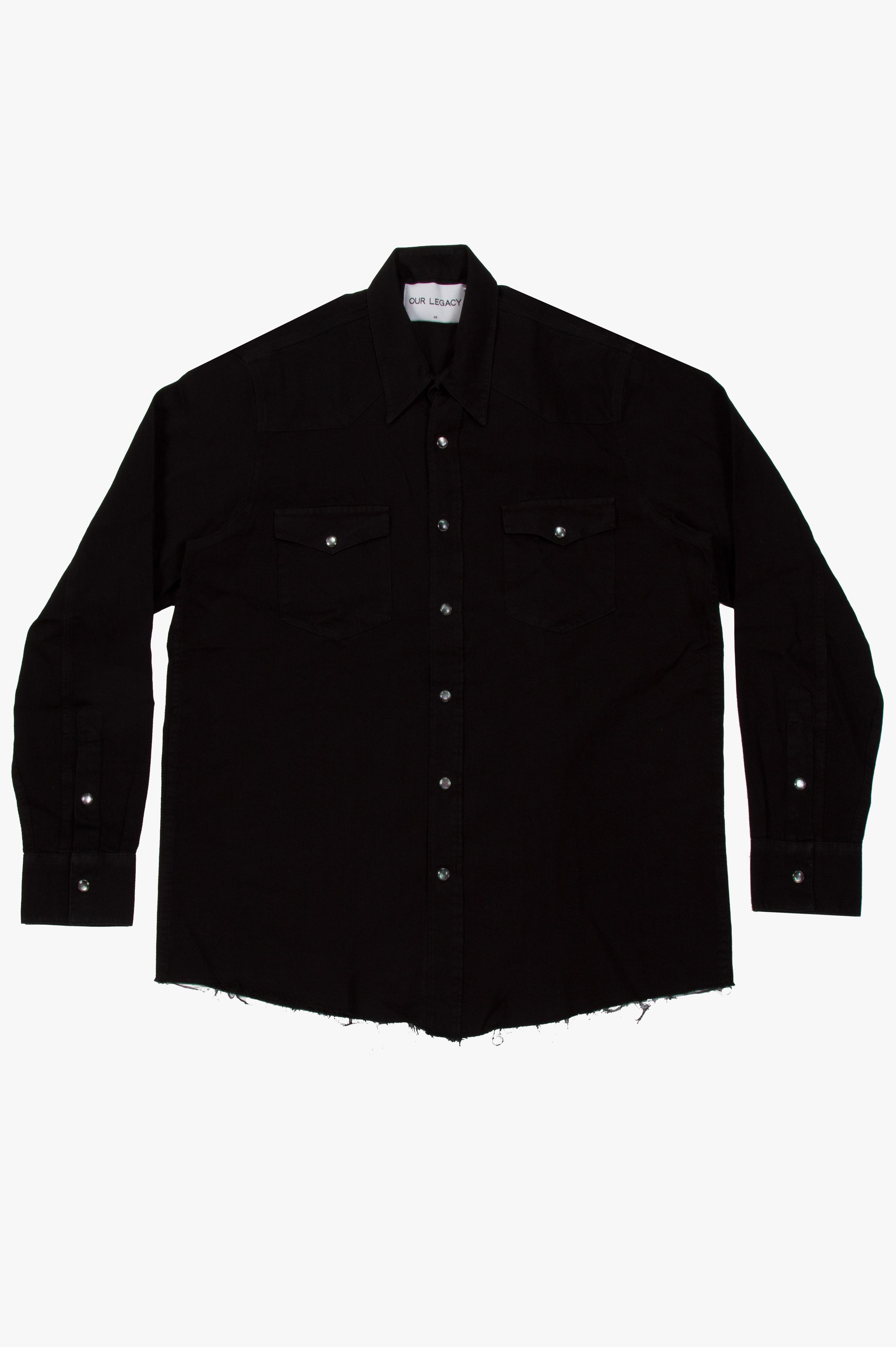 Saloon Shirt Used Black
