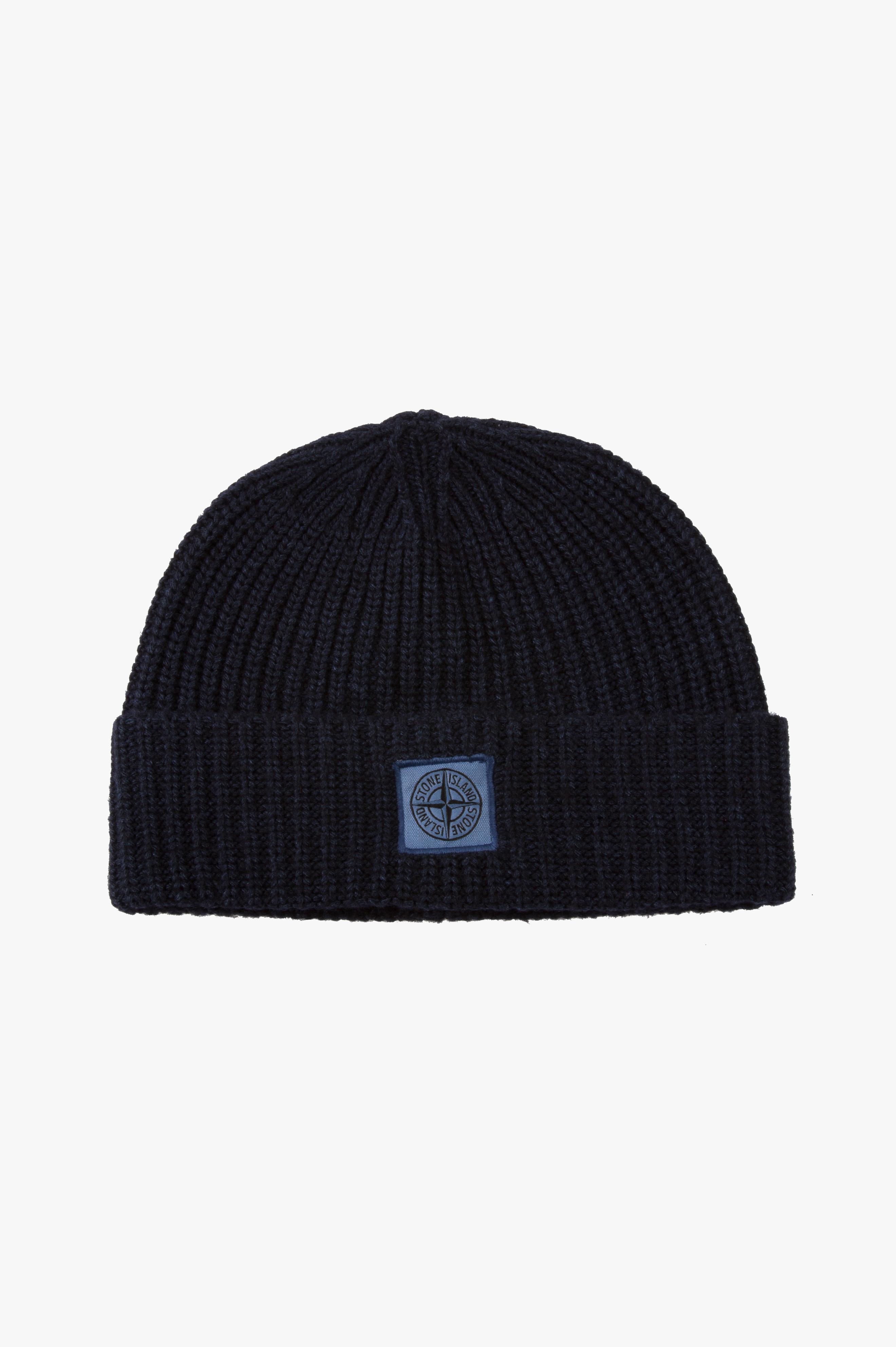 Wool / Cashmere Hat Marine Blue