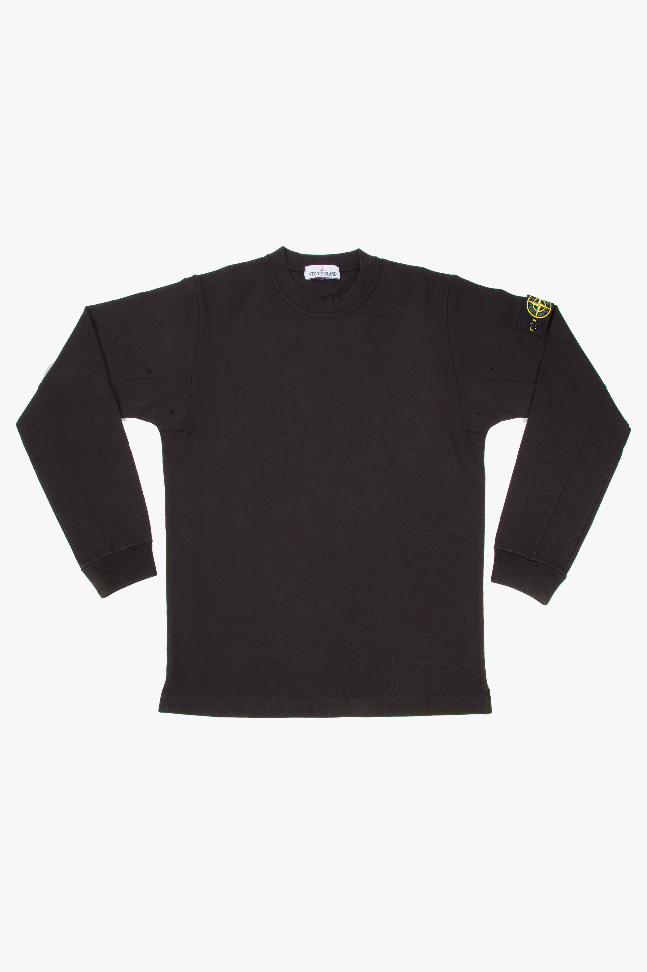 Crew Neck Long Sleeve T-Shirt Black