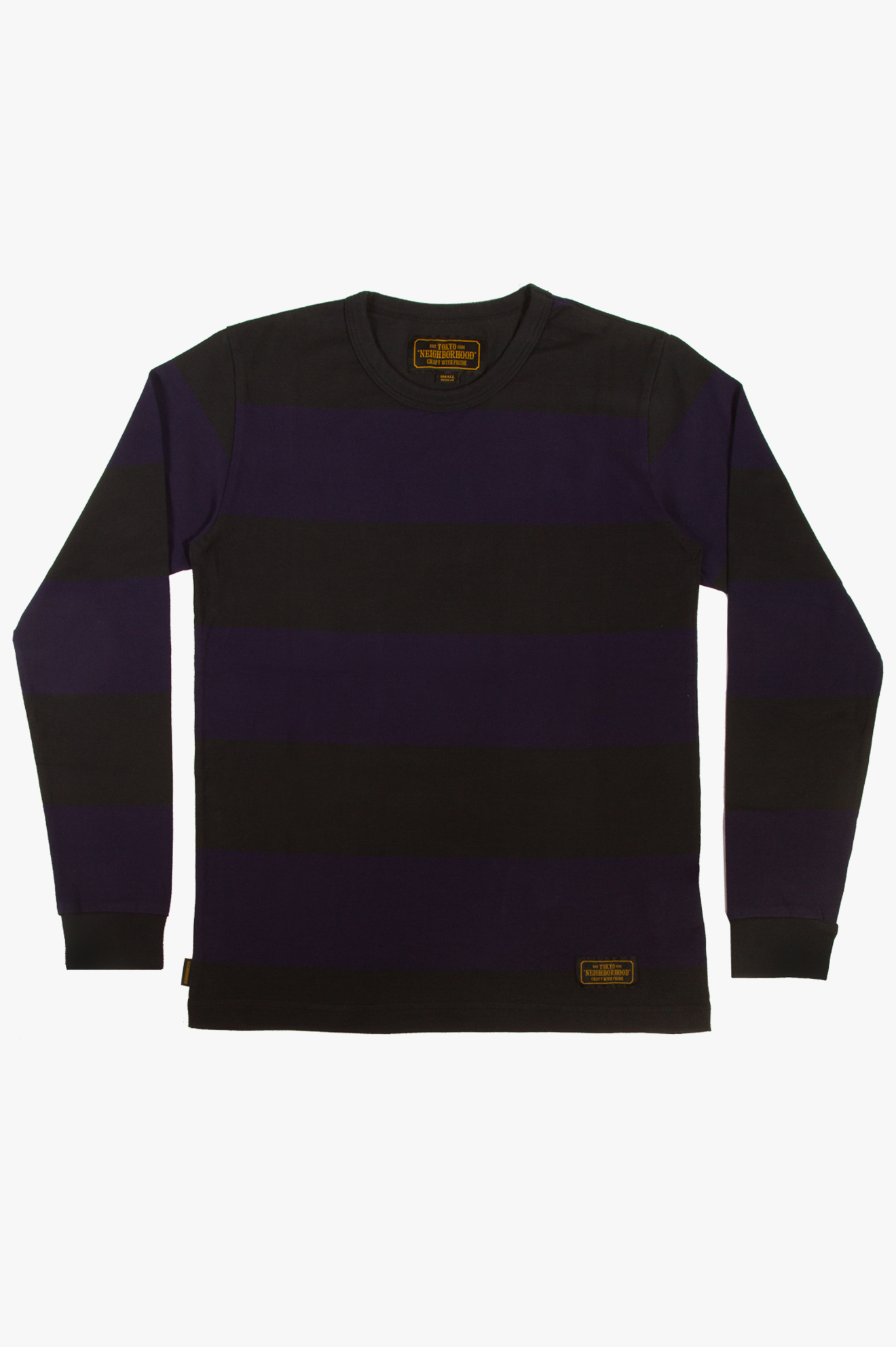 Border LS T-Shirt Navy