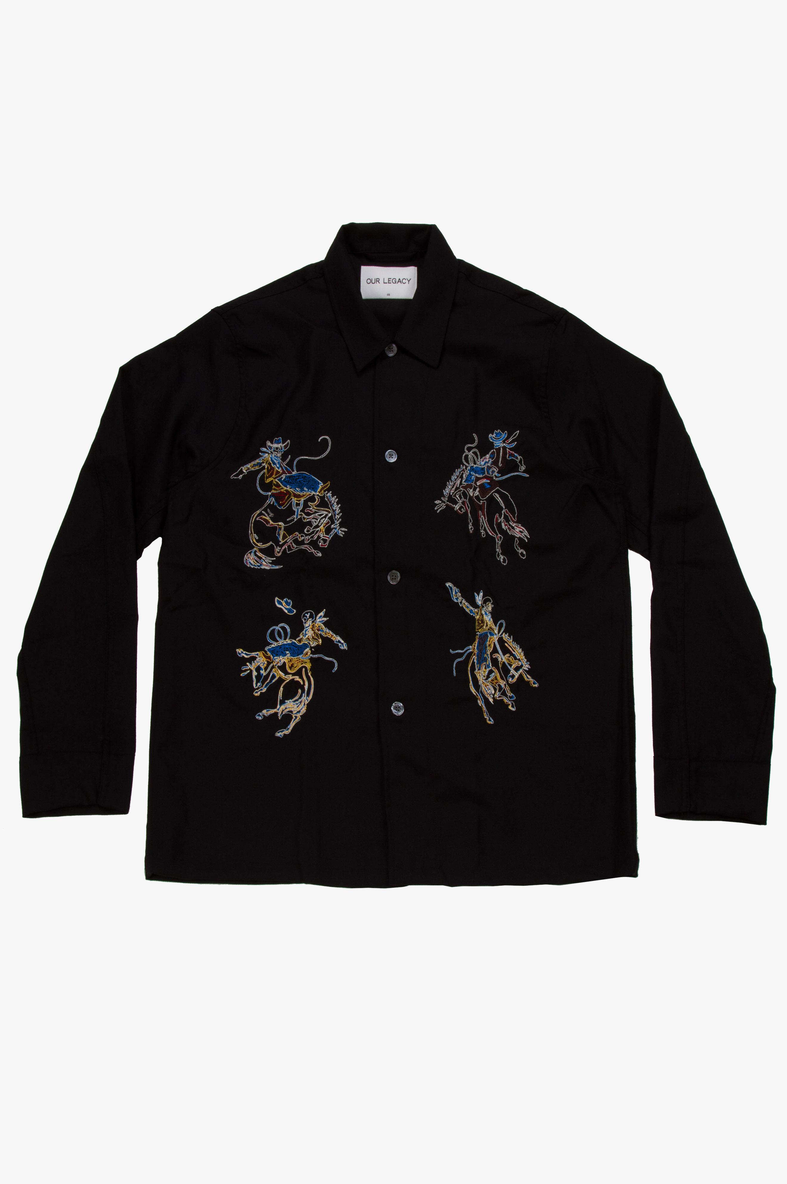 Box Shirt Rodeo Black Panama