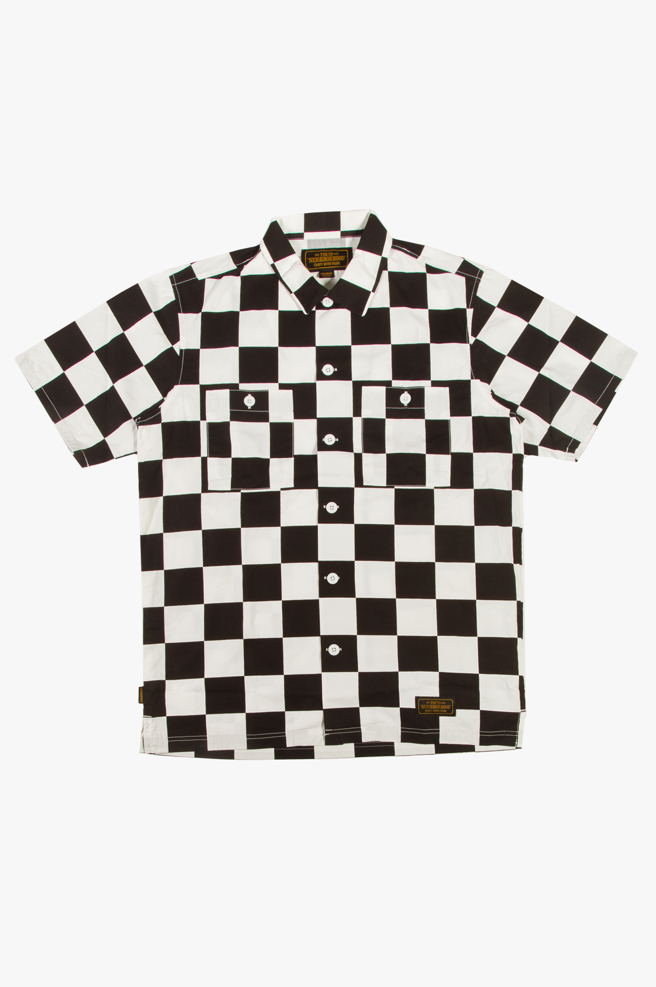 Checker Shirt White/Black