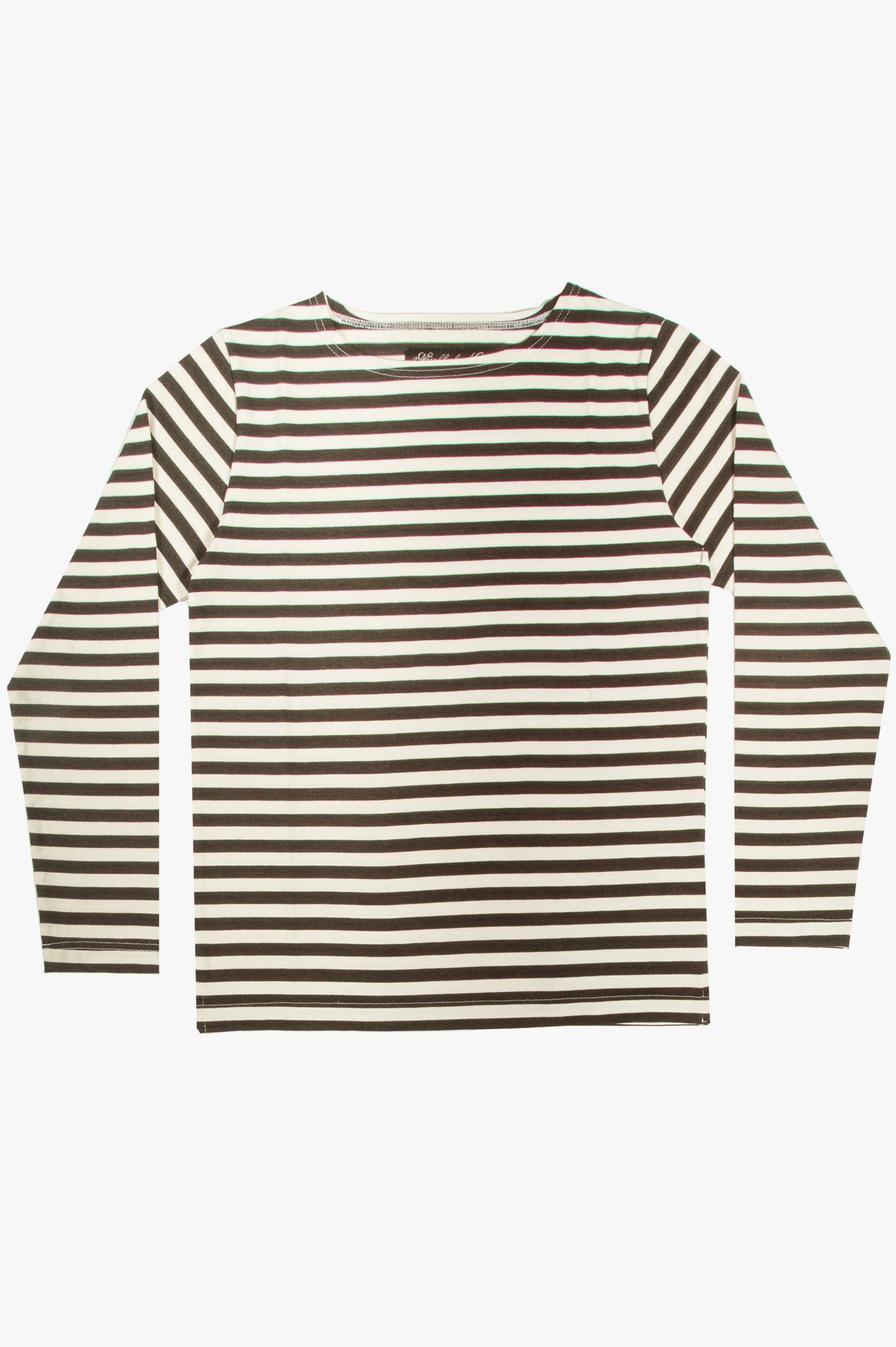 Pablo LS T-Shirt White/Black Stripes