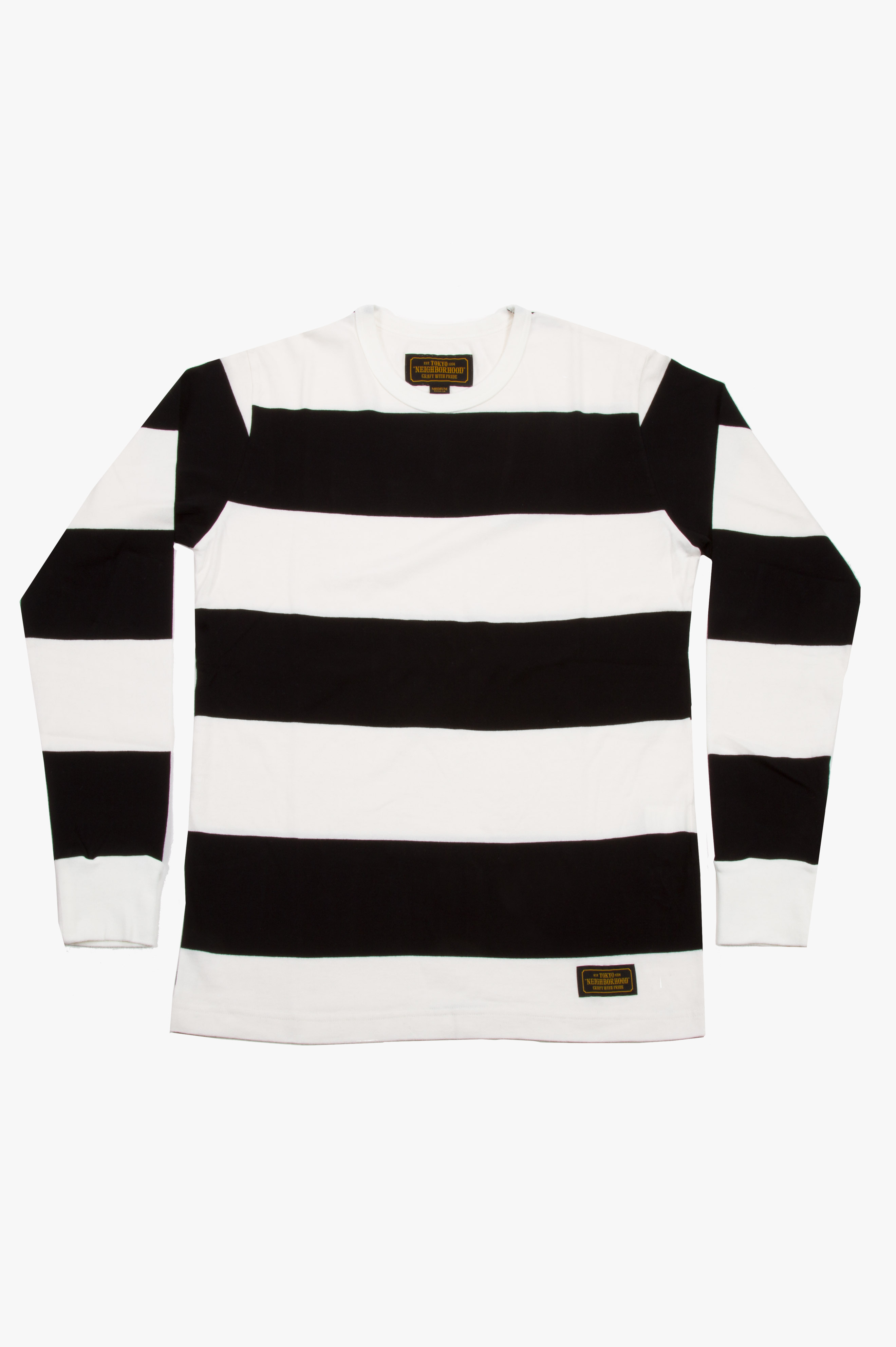 B.D. C-Crew LS Black/White