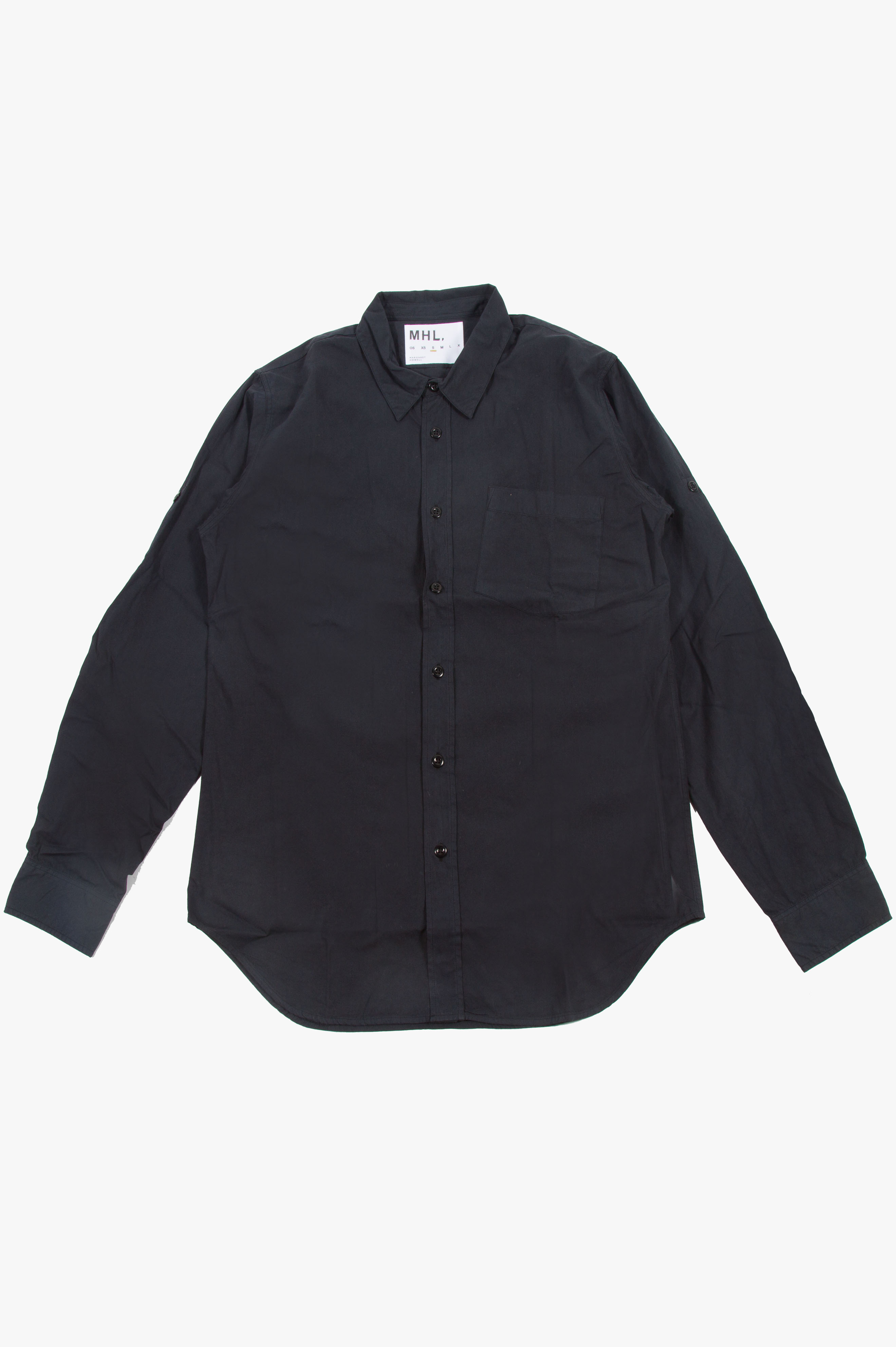 Basic Poplin Shirt Black