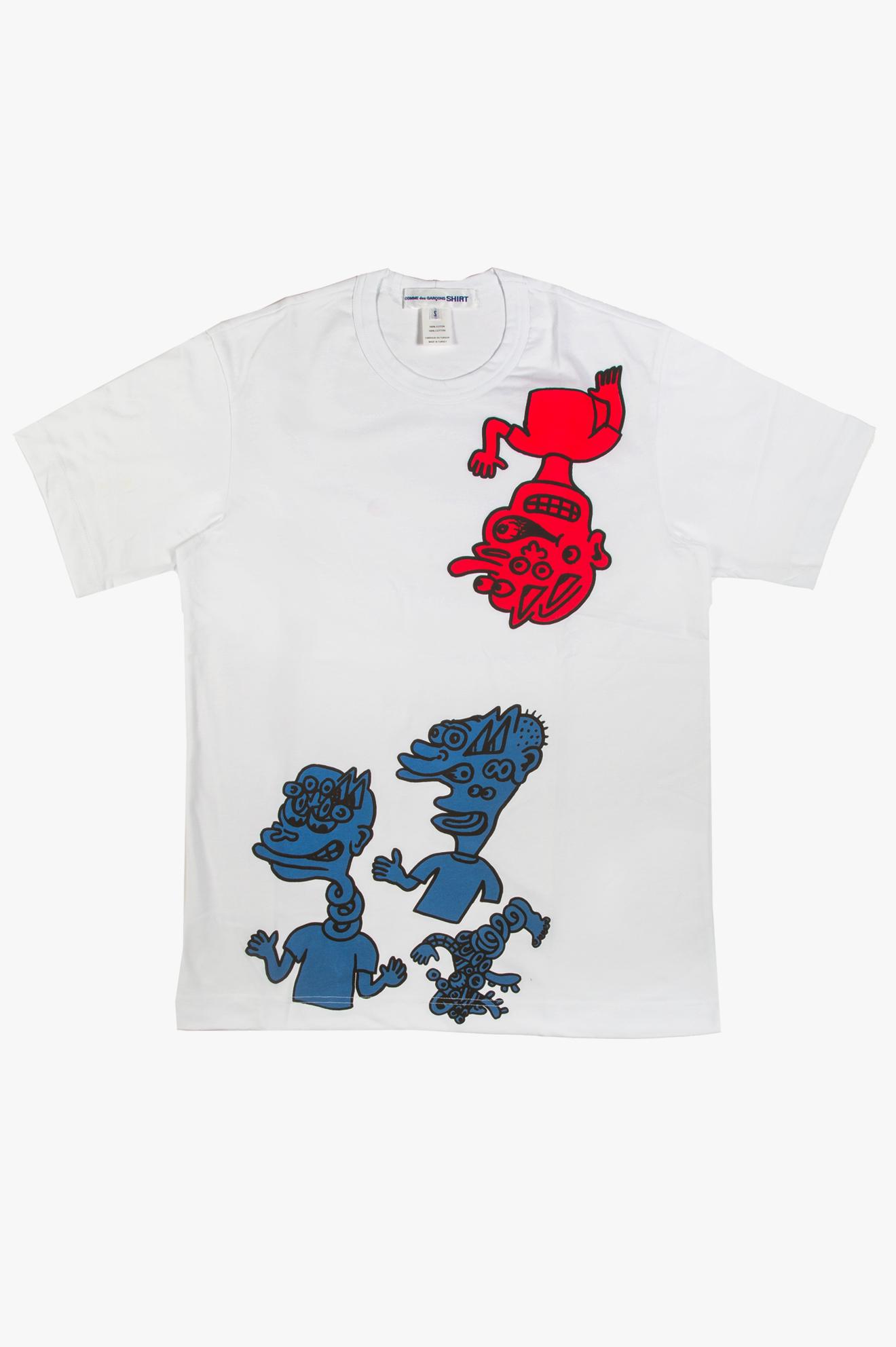 Noah Lyon Character Print T-Shirt White