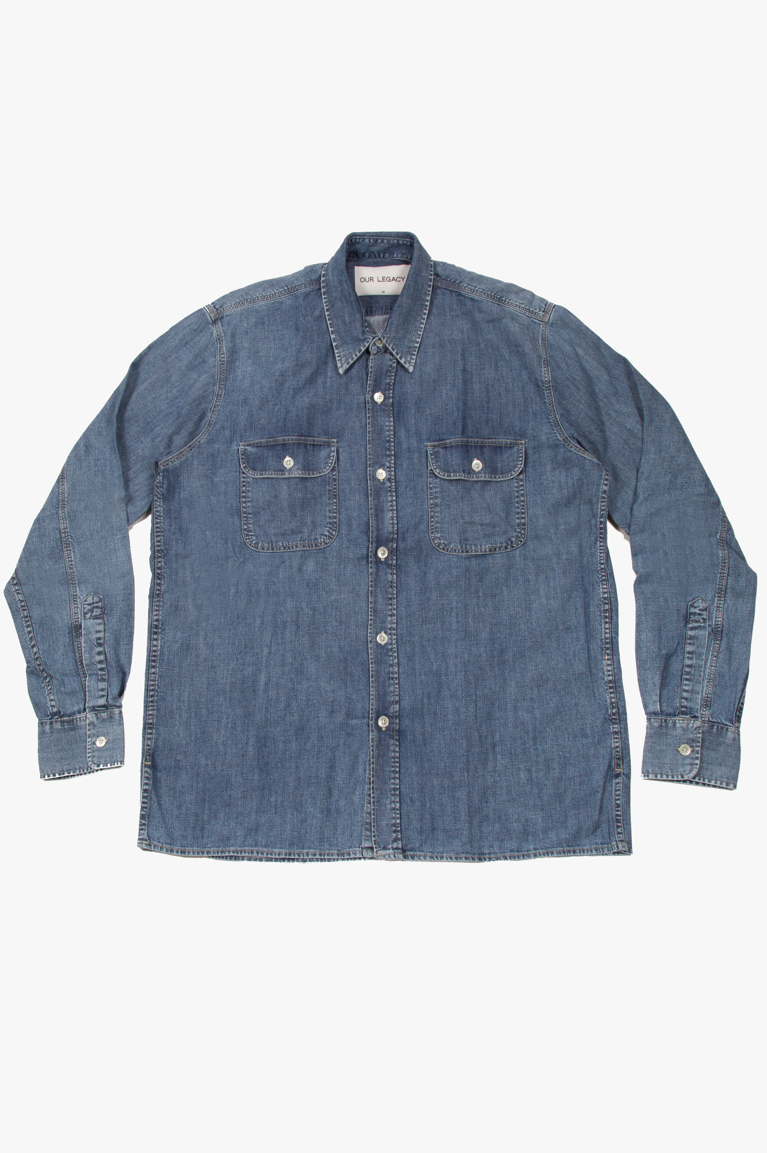 Country Shirt Vintage Blue Denim