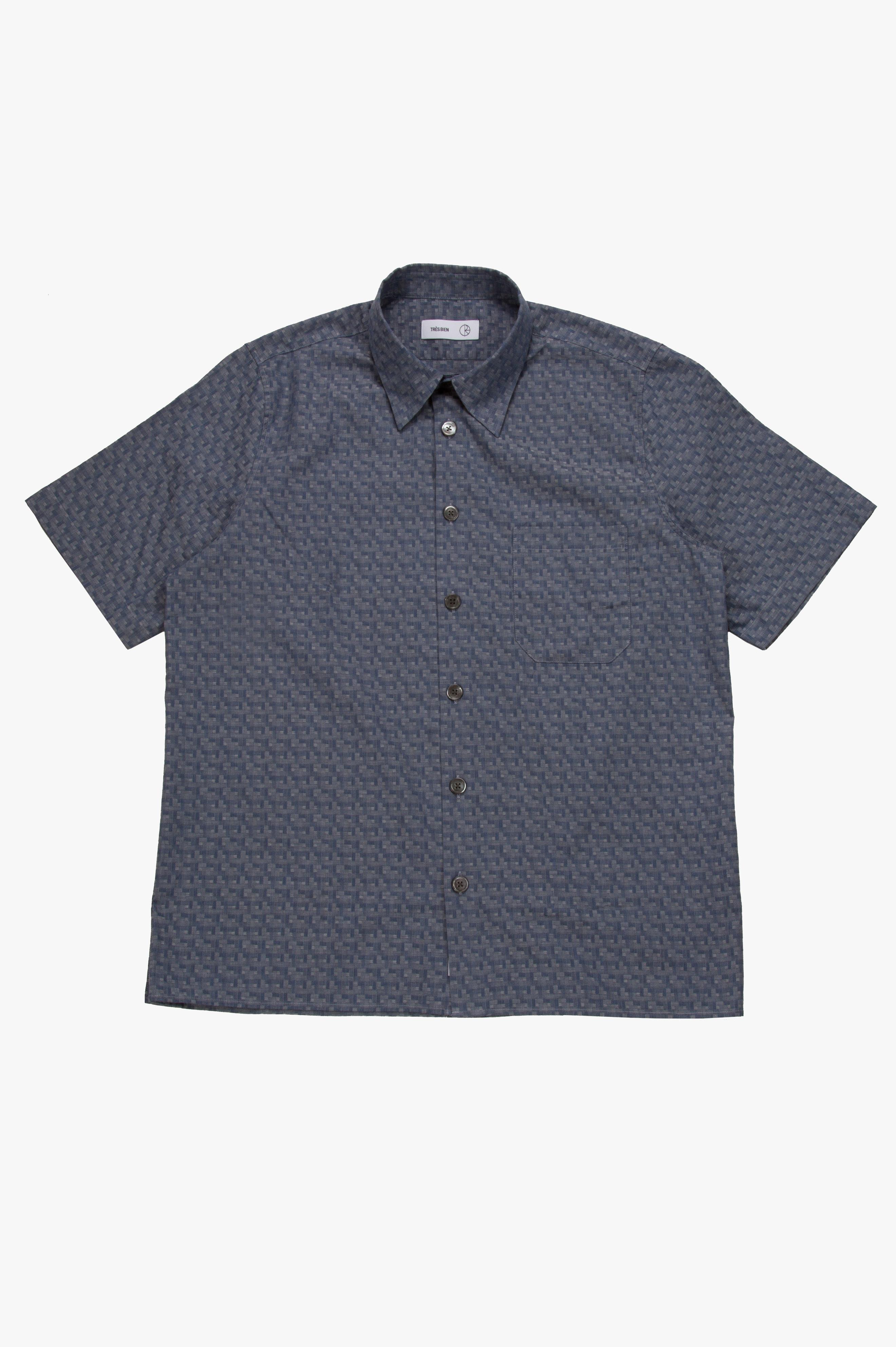 Tourist SS Shirt Jacquard Sky Blue