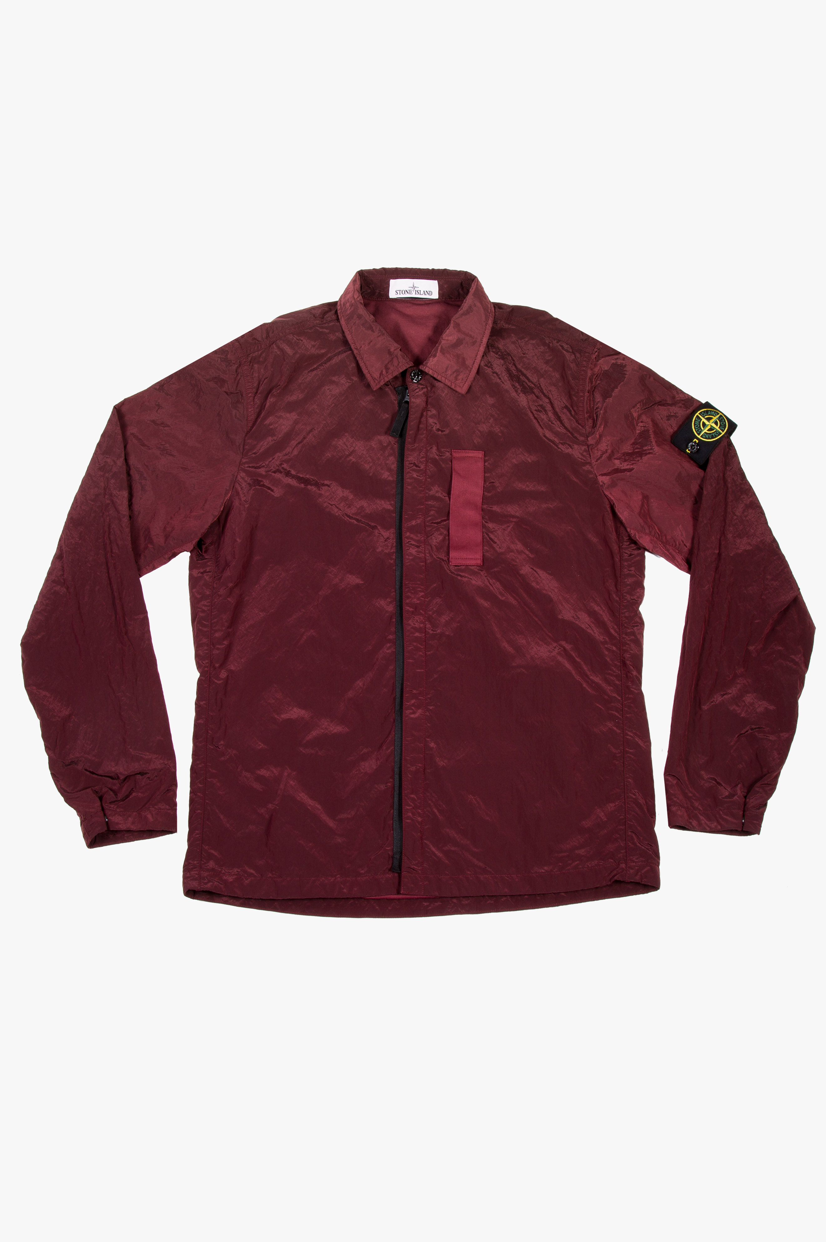 Nylon Metal Shirt Jacket Burgundy