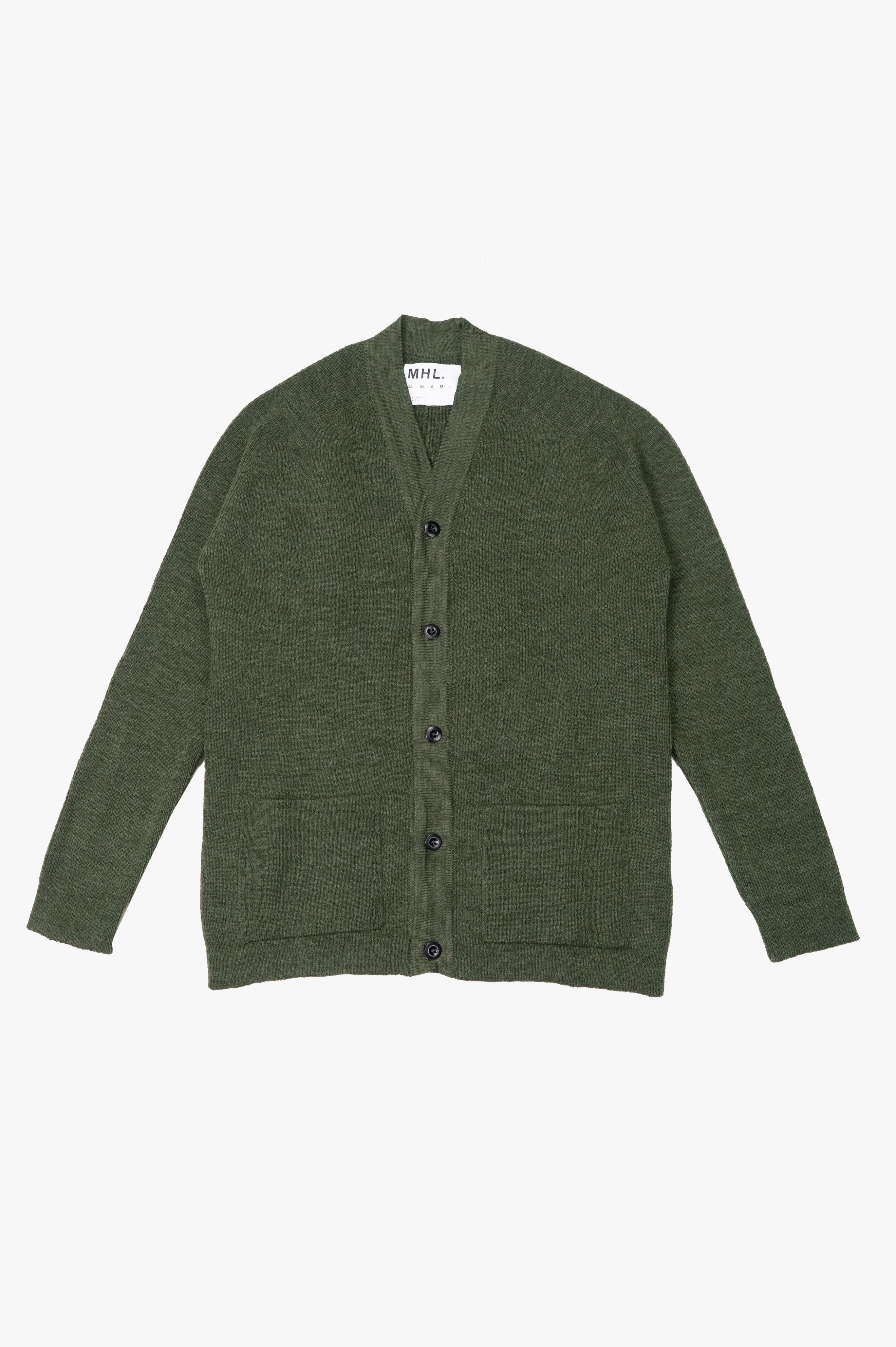 Pocket Cardigan Utility Wool Leaf