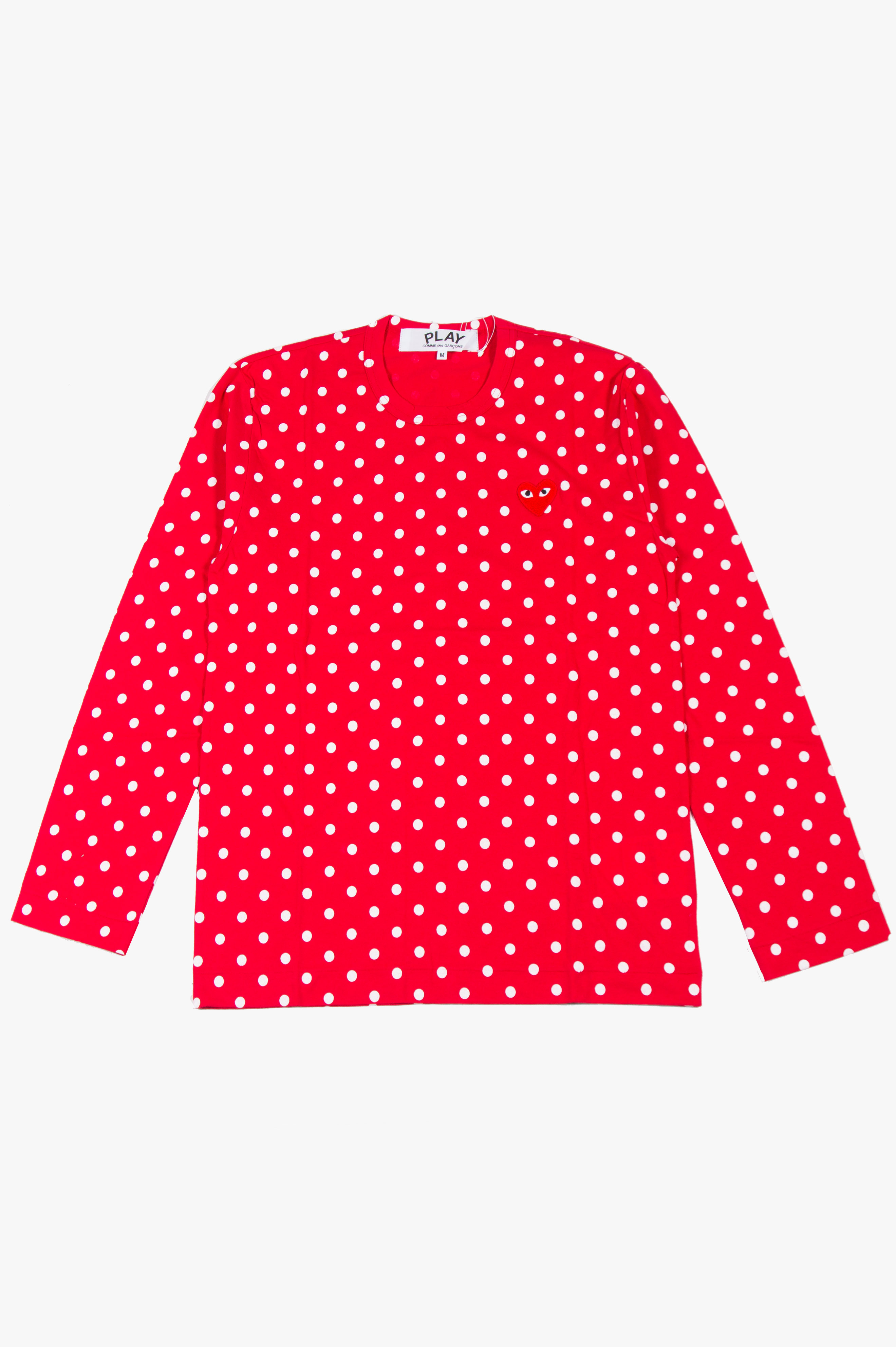 Polka Dot Long Sleeve Red