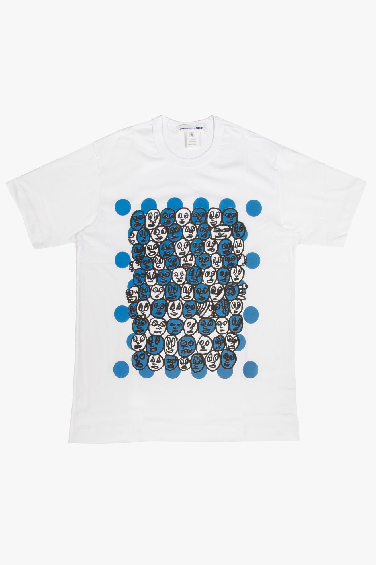 Noah Lyon Faces Print T-Shirt White