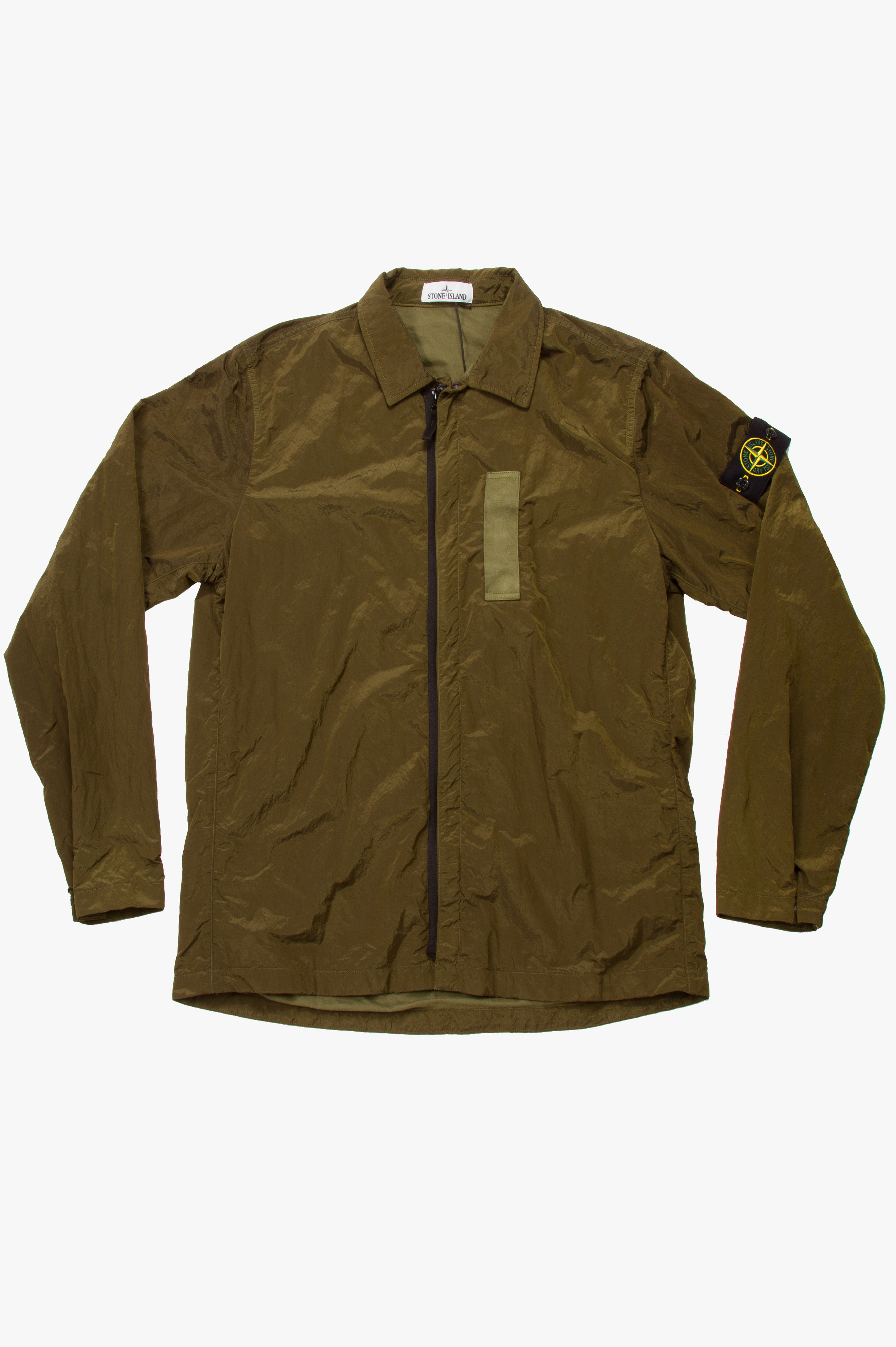 Nylon Metal Shirt Jacket Military Green