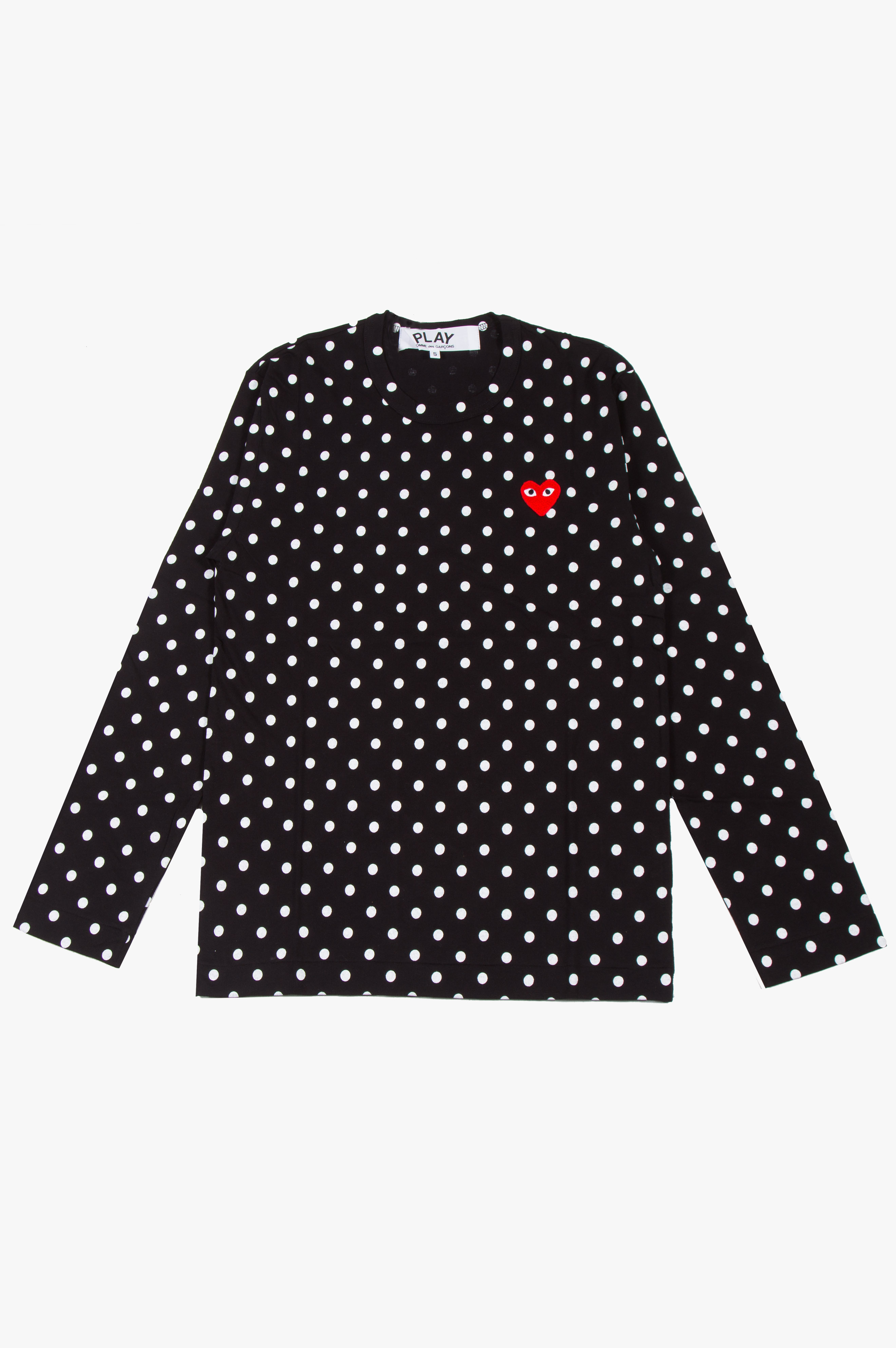 Polka Dot Long Sleeve Black