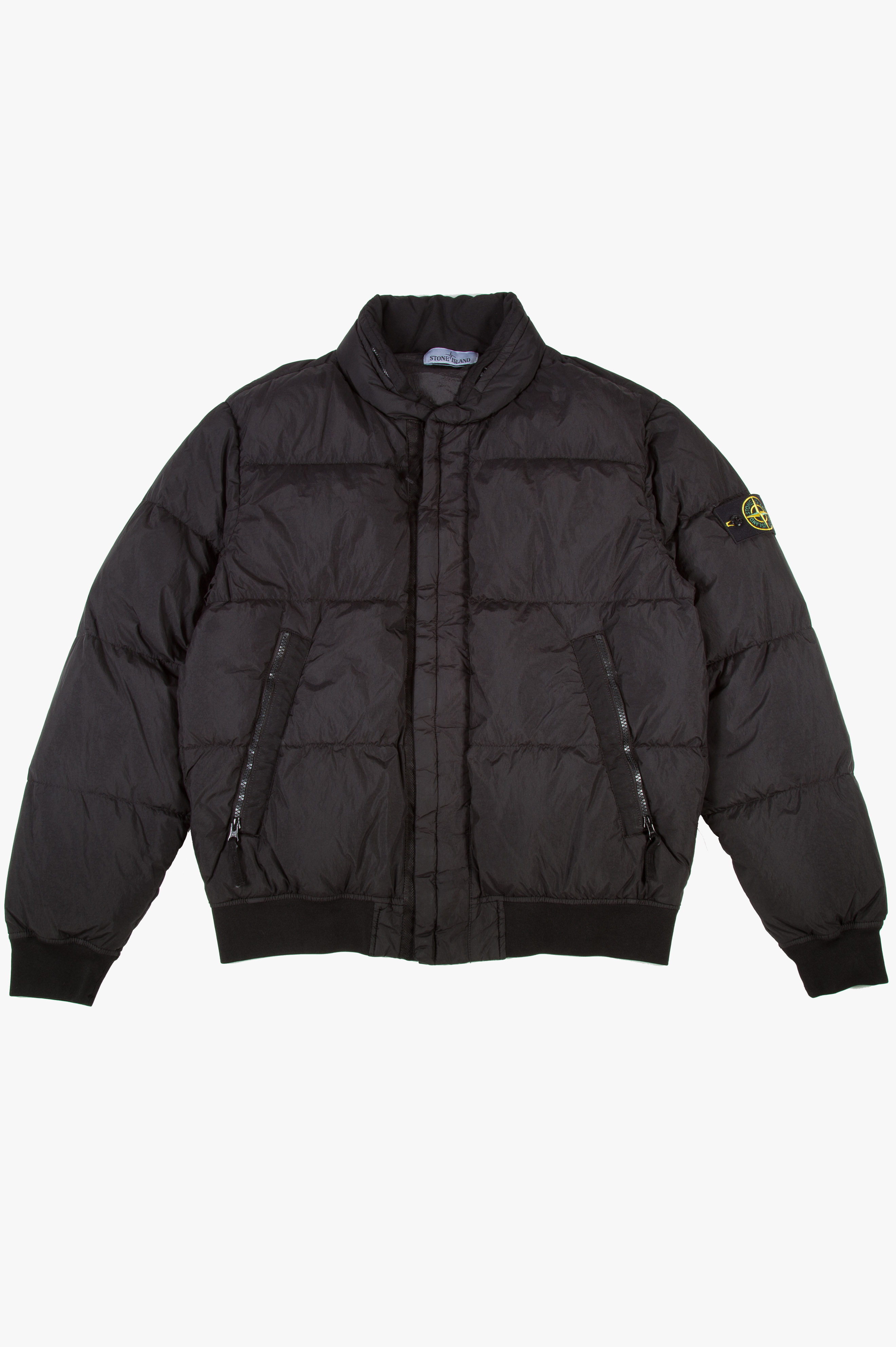 Garment Dyed Crinkle Reps NY Down Jacket Black