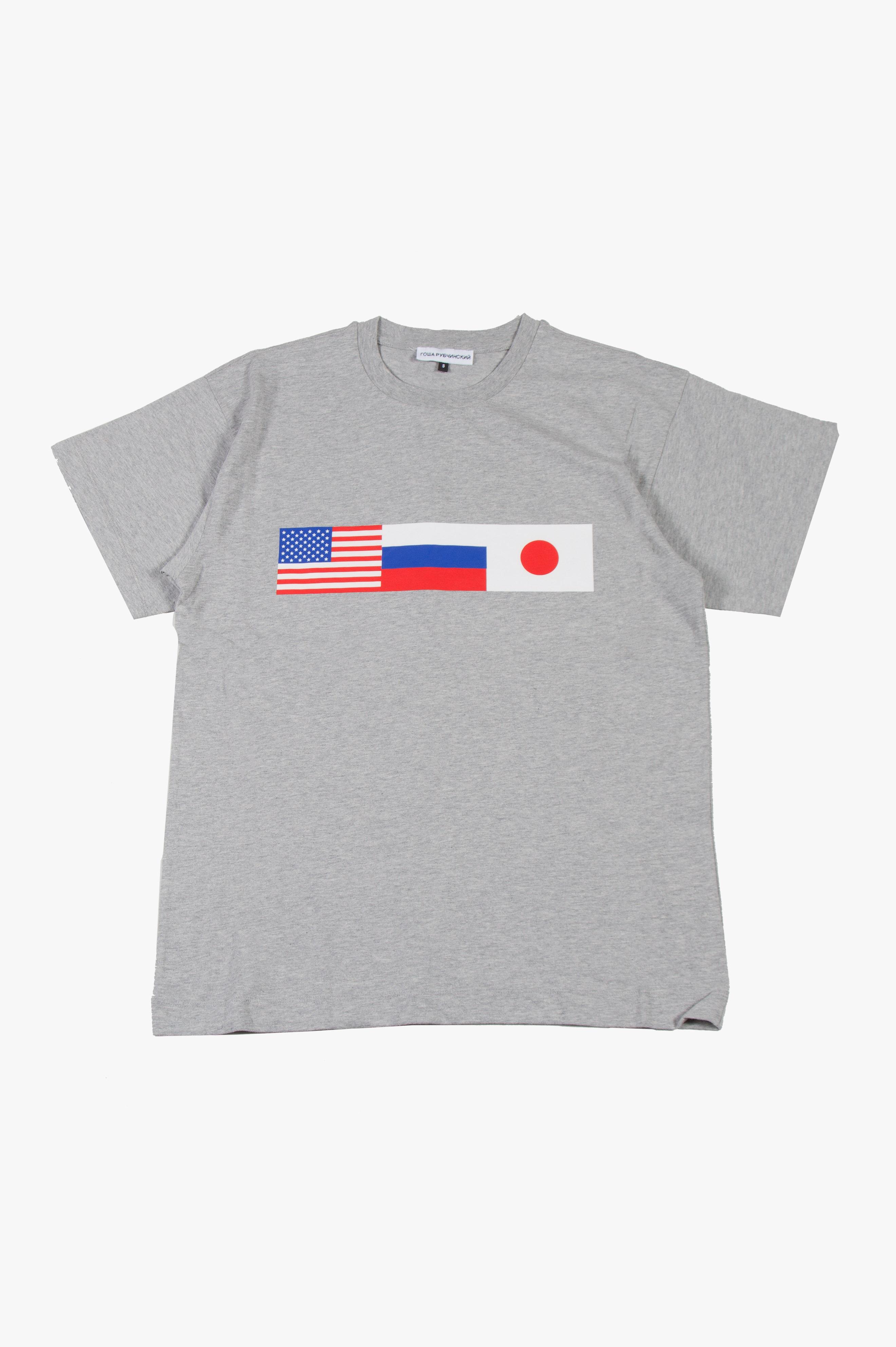 Flag T-Shirt Grey
