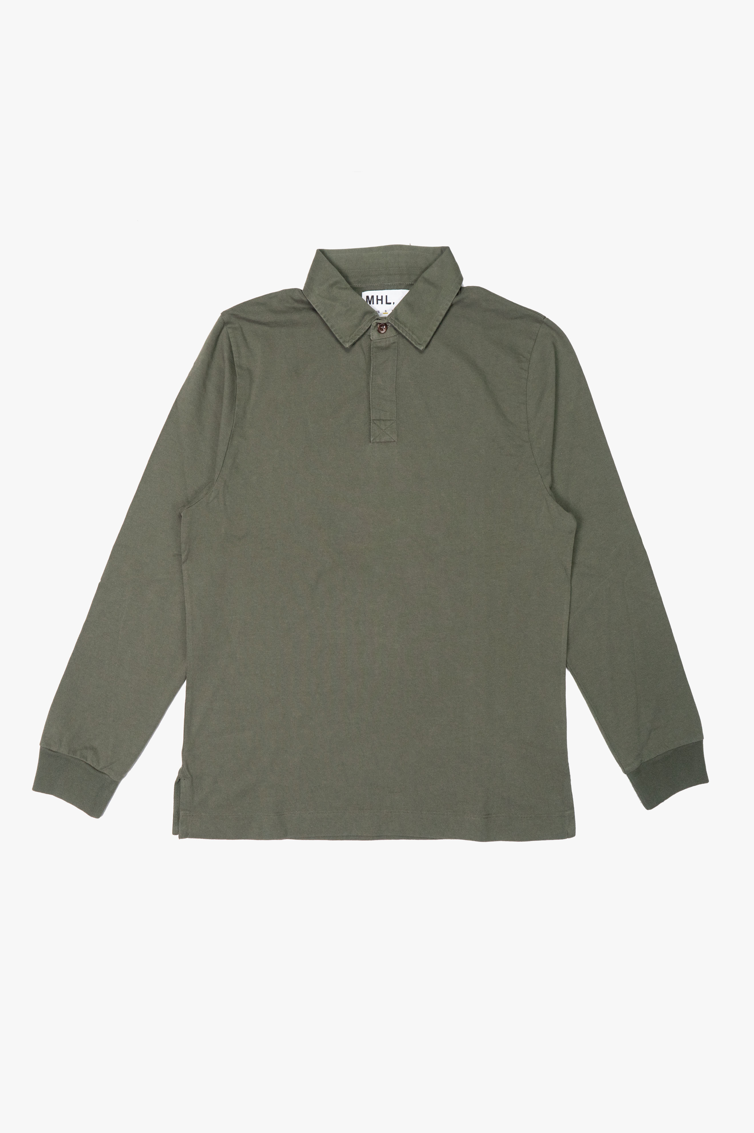Rugby Shirt Matt Cotton Jersey Army Green