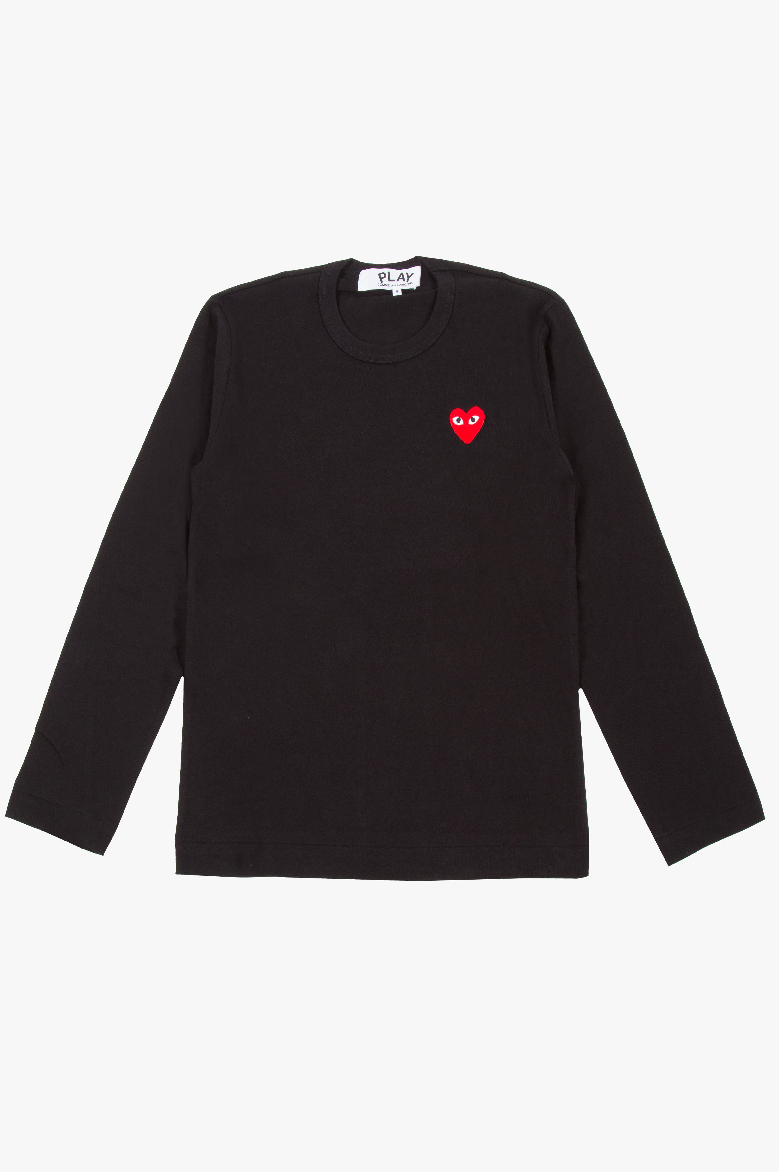Red Heart Long Sleeve Black