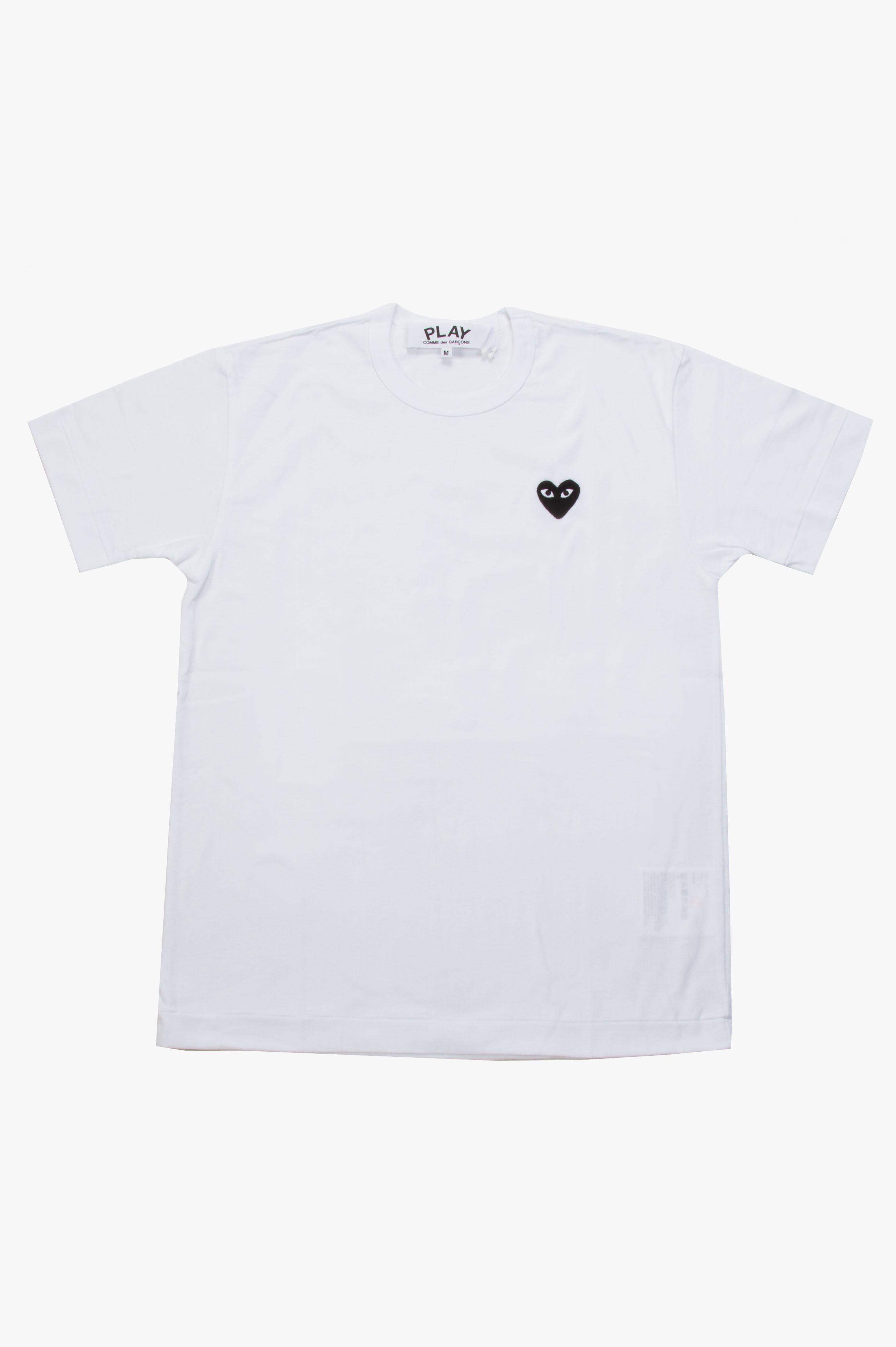 Black Heart T-Shirt White